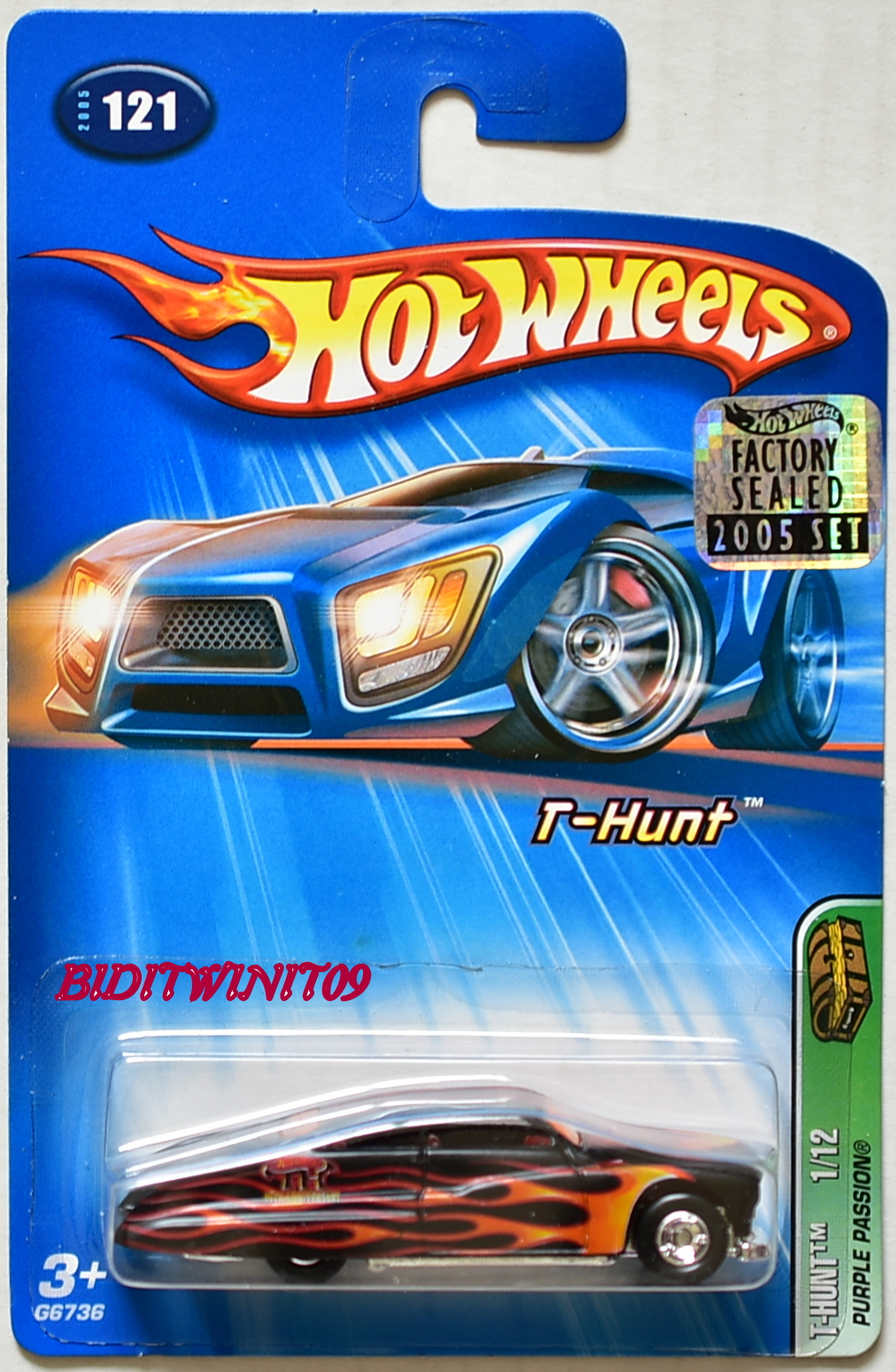 HOT WHEELS 2005 TREASURE HUNT PURPLE PASSION #121 FACTORY SEALED E+