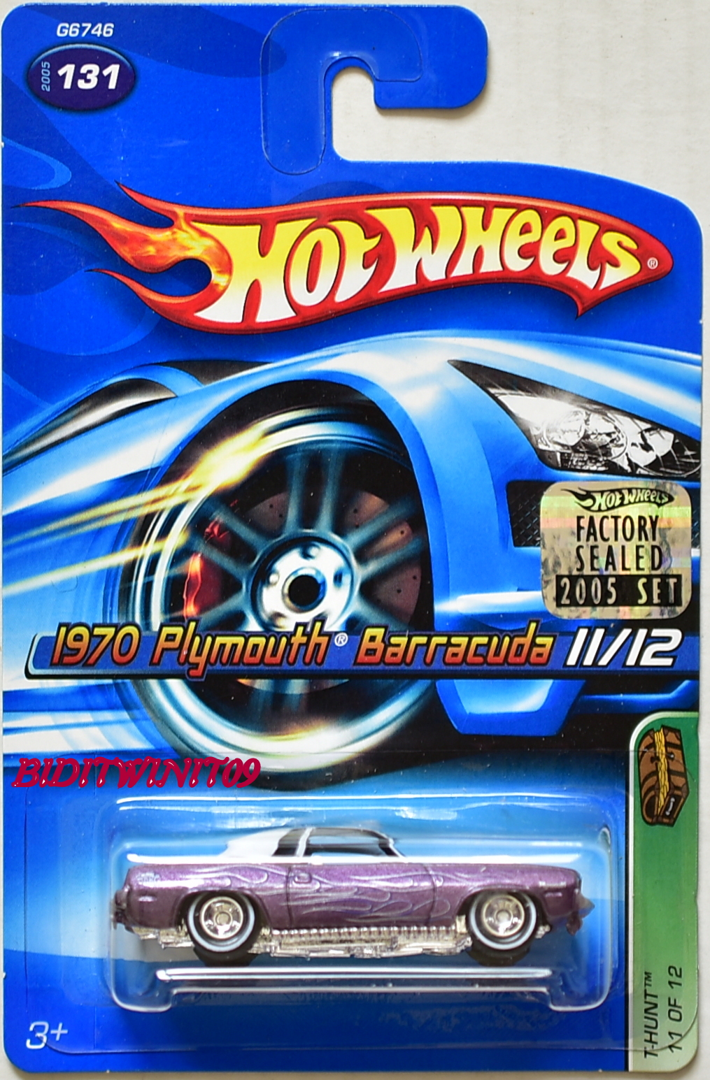 HOT WHEELS 2005 TREASURE HUNT 1970 PLYMOUTH BARRACUDA #11/12 FACTORY SEALED E+
