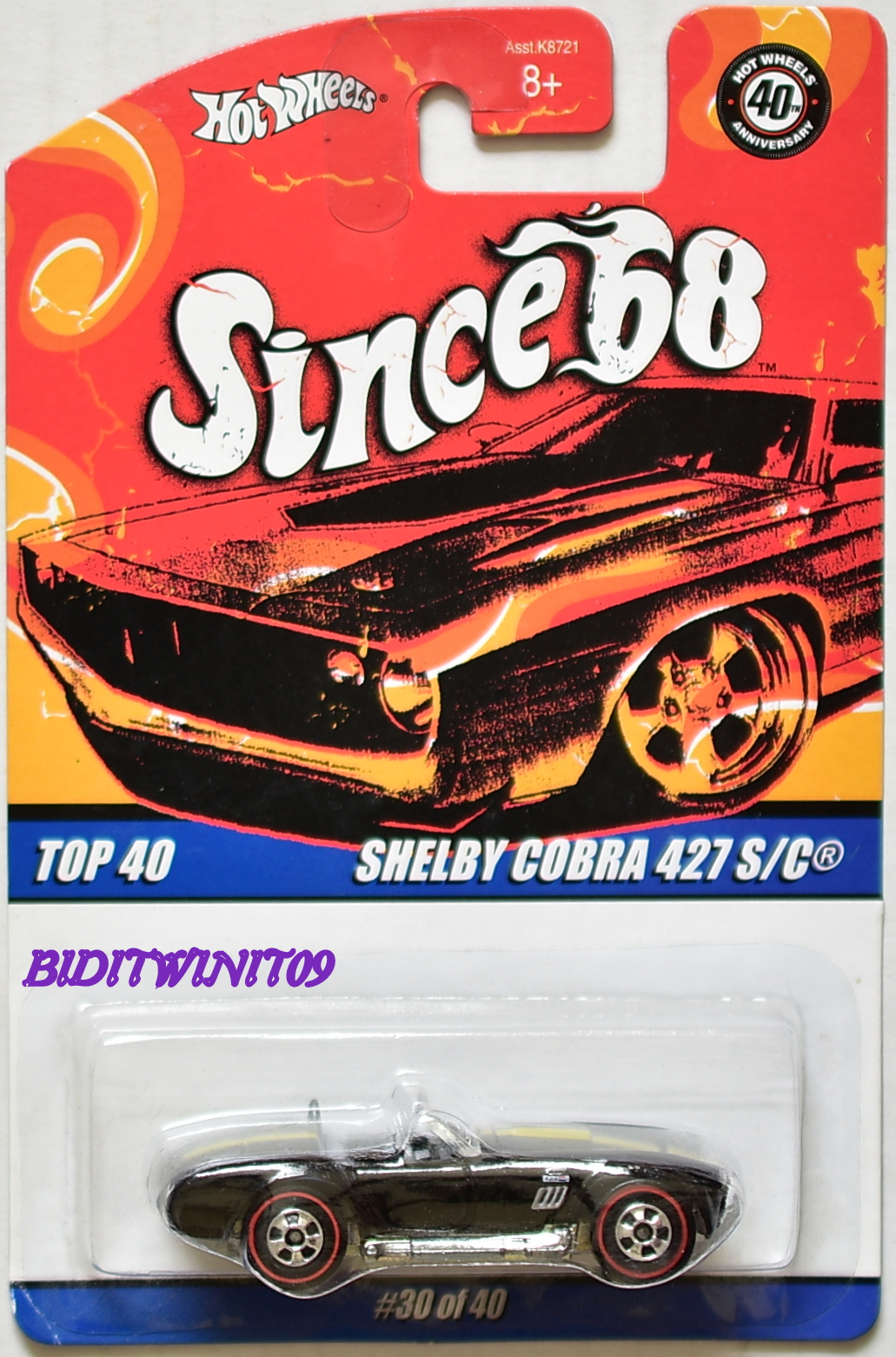 HOT WHEELS SINCE 68 TOP 40 SHELBY COBRA 427 S/C #30/40 BLACK