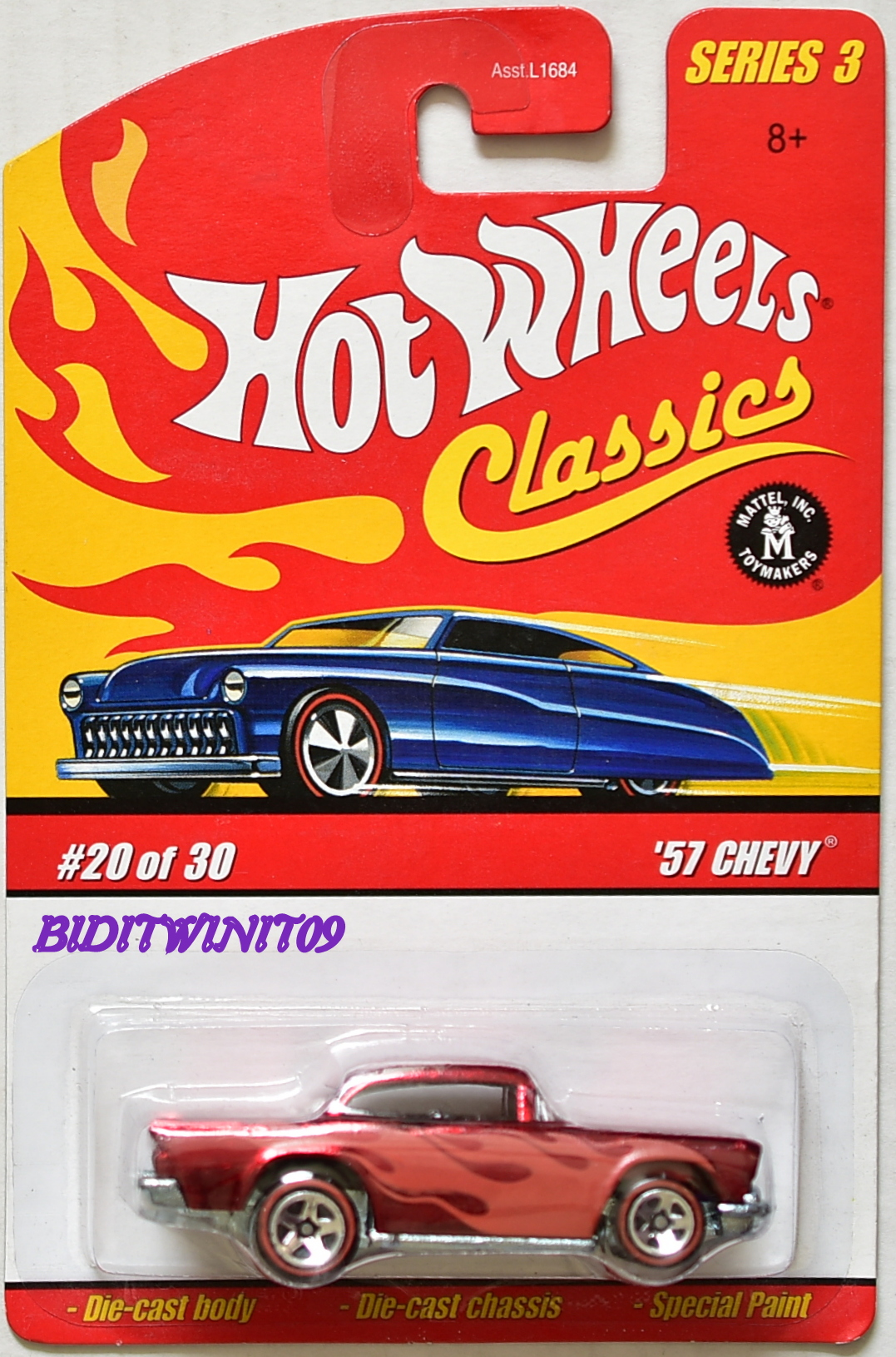 HOT WHEELS CLASSICS SERIES 3 '57 CHEVY #20/30 RED E+