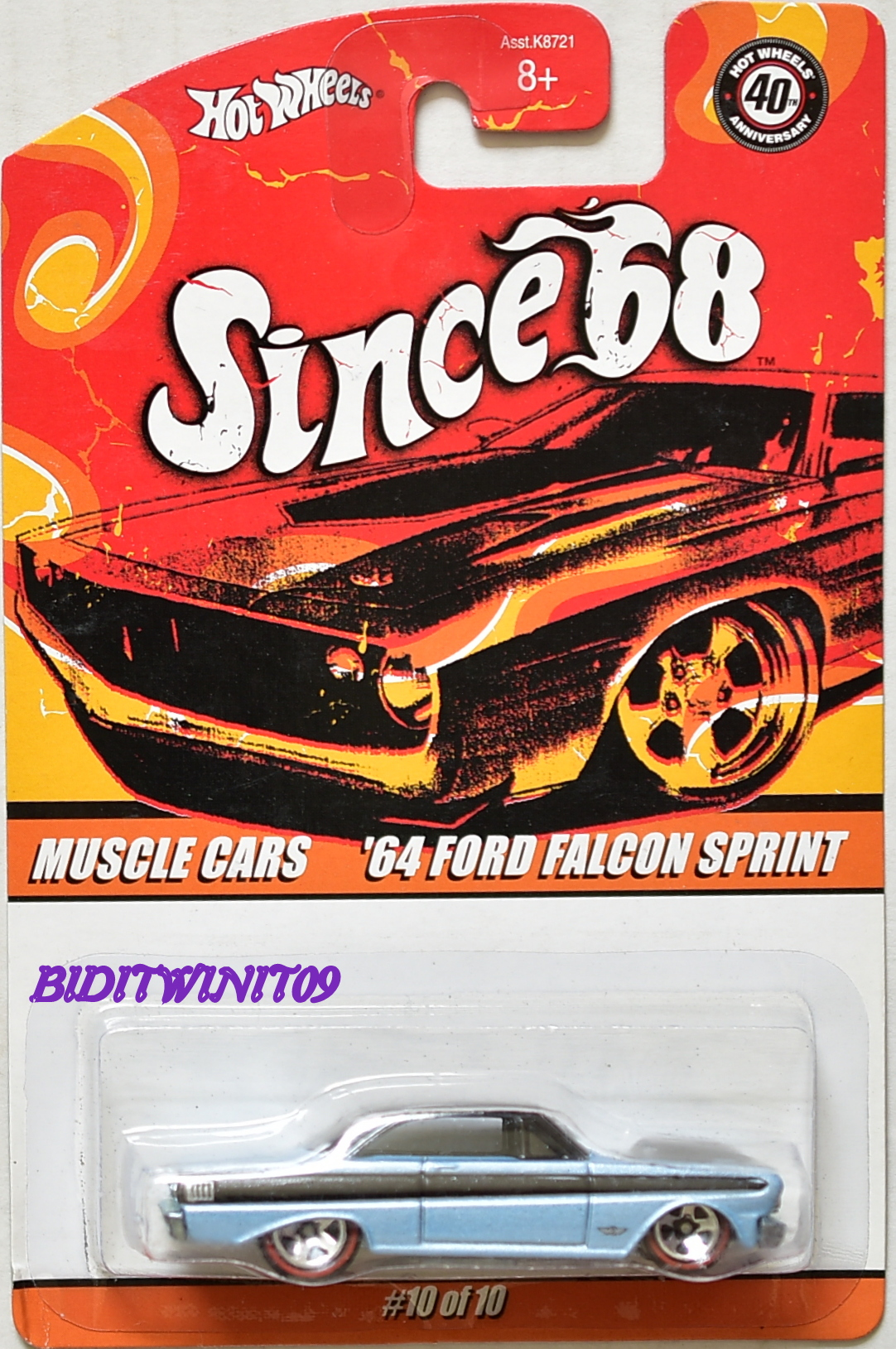 HOT WHEELS SINCE 68 MUSCLE CARS '64 FORD FALCON SPRINT #10/10
