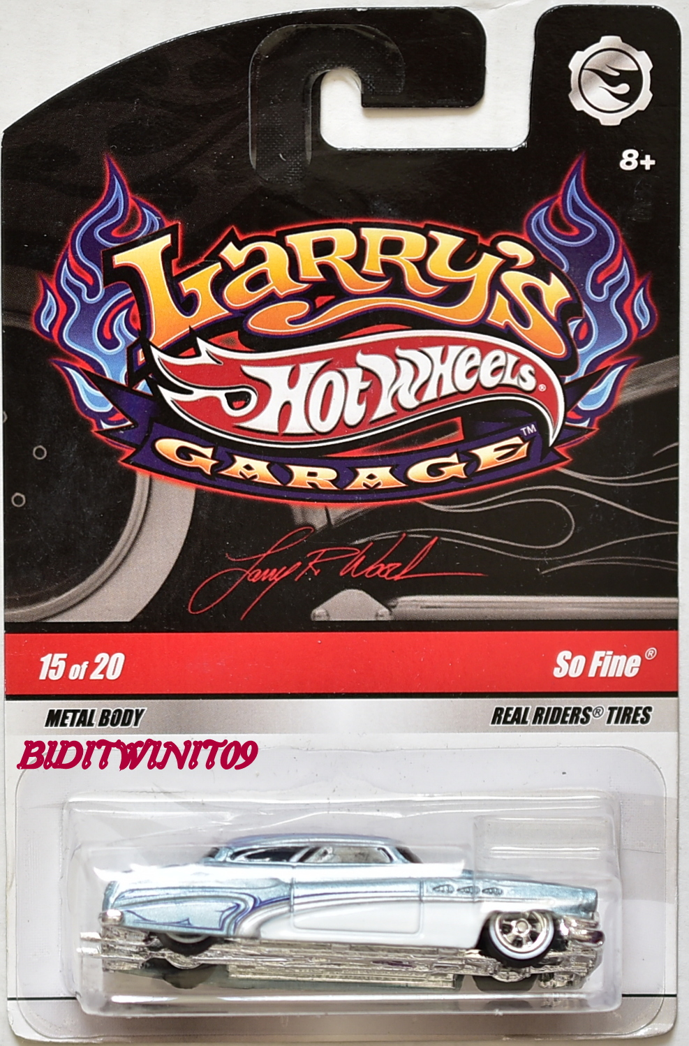 HOT WHEELS LARRY'S GARAGE SO FINE #15/20 LIGHT BLUE