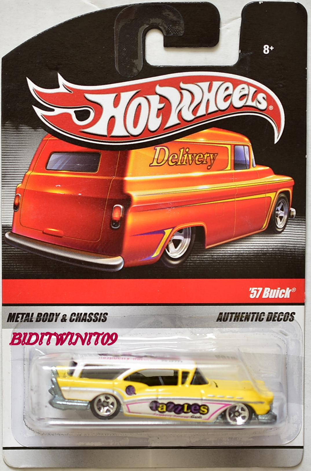 HOT WHEELS DELIVERY '57 BUICK YELLOW E+