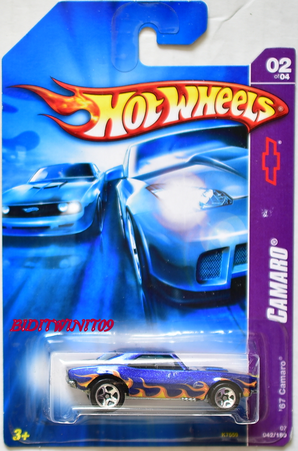 HOT WHEELS 2007 '67 CAMARO BLUE #2/4 MIB