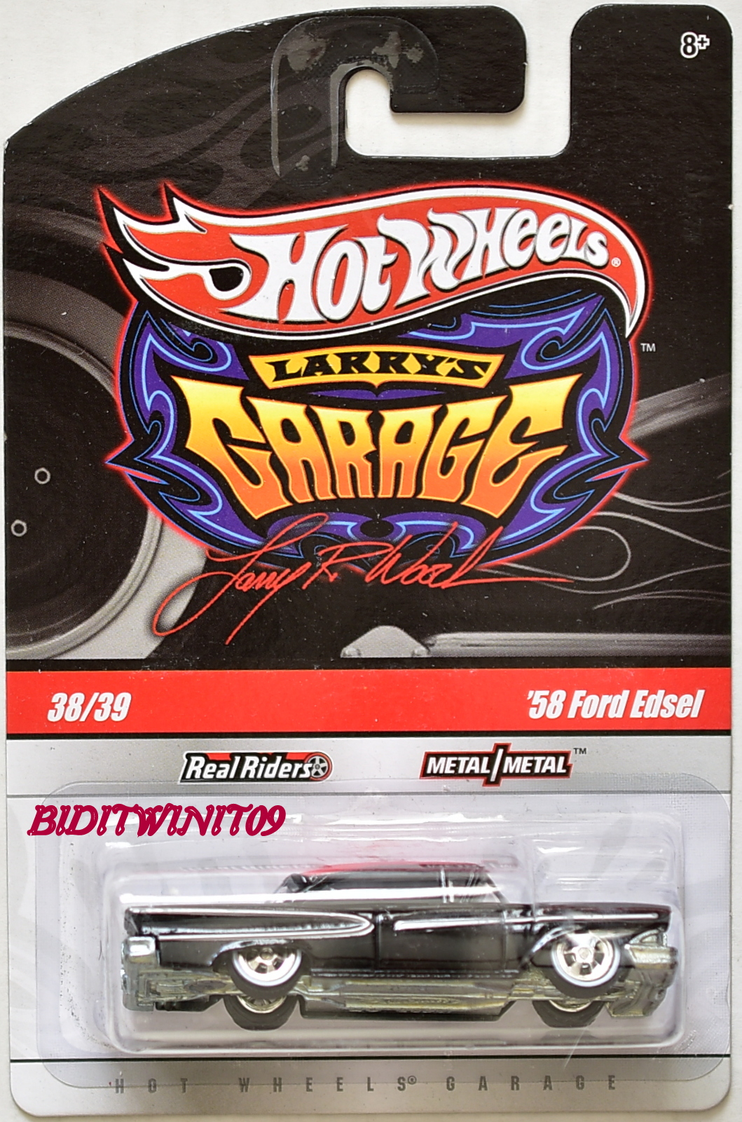 HOT WHEELS LARRY'S GARAGE '58 FORD EDSEL #38/39 BLACK
