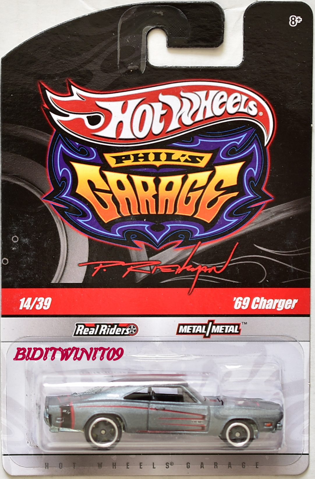 HOT WHEELS PHIL'S GARAGE #14/39 '69 CHARGER GREY
