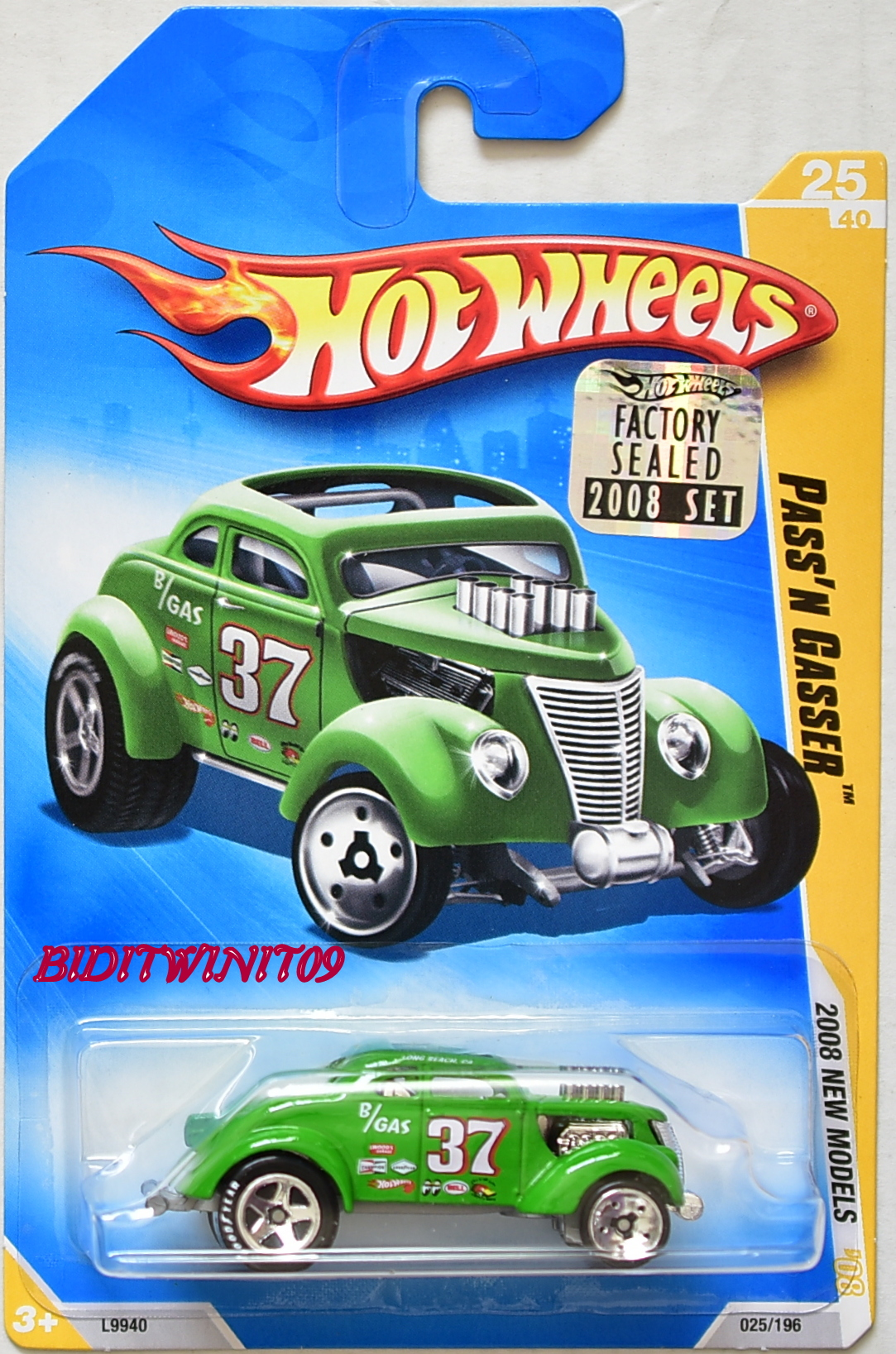 HOT WHEELS 2008 NEW MODELS PASS'N GASSER #25/40 GREEN FACTORY SEALED