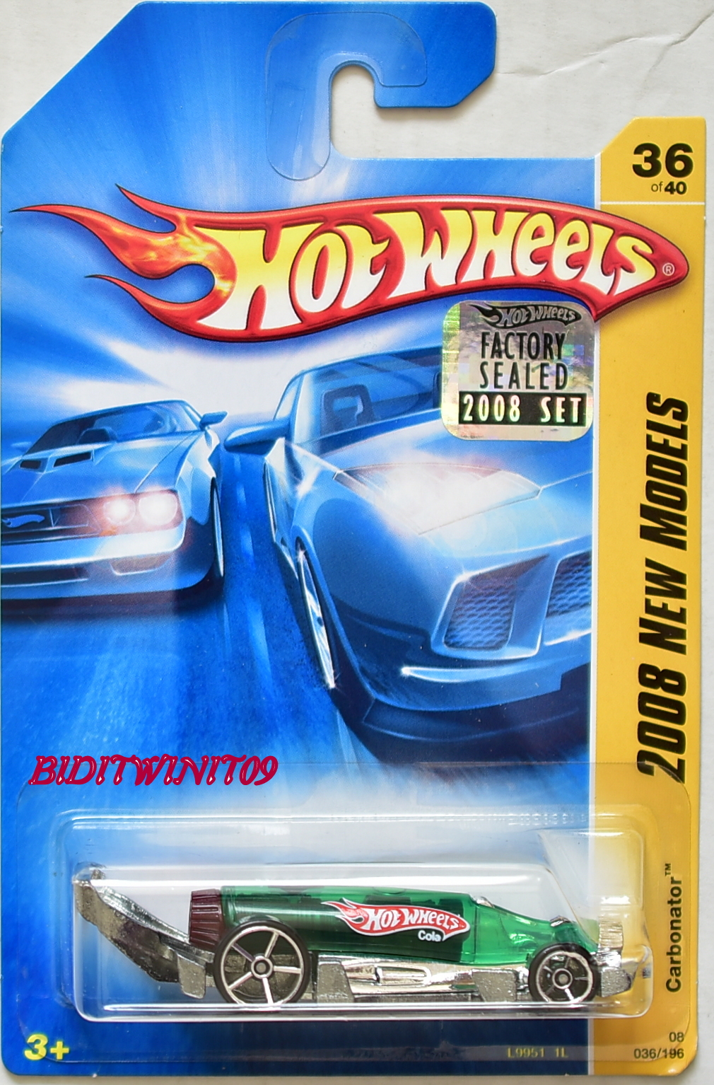 HOT WHEELS 2008 NEW MODELS CARBONATOR GREEN FACTORY SEALED