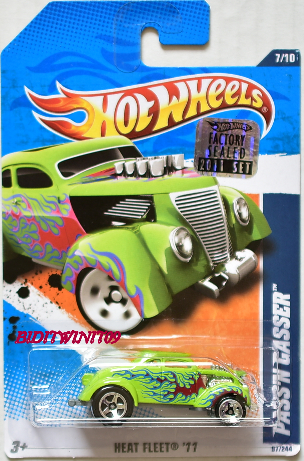 HOT WHEELS 2011 HEAT FLEET PASS'N GASSER GREEN FACTORY SEALED