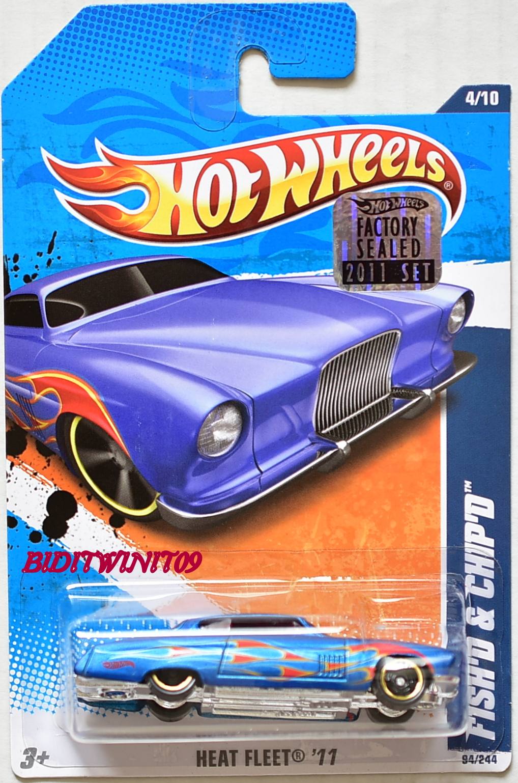 HOT WHEELS 2011 HEAT FLEET FISH'D & CHIP'D BLUE FACTORY SEALED