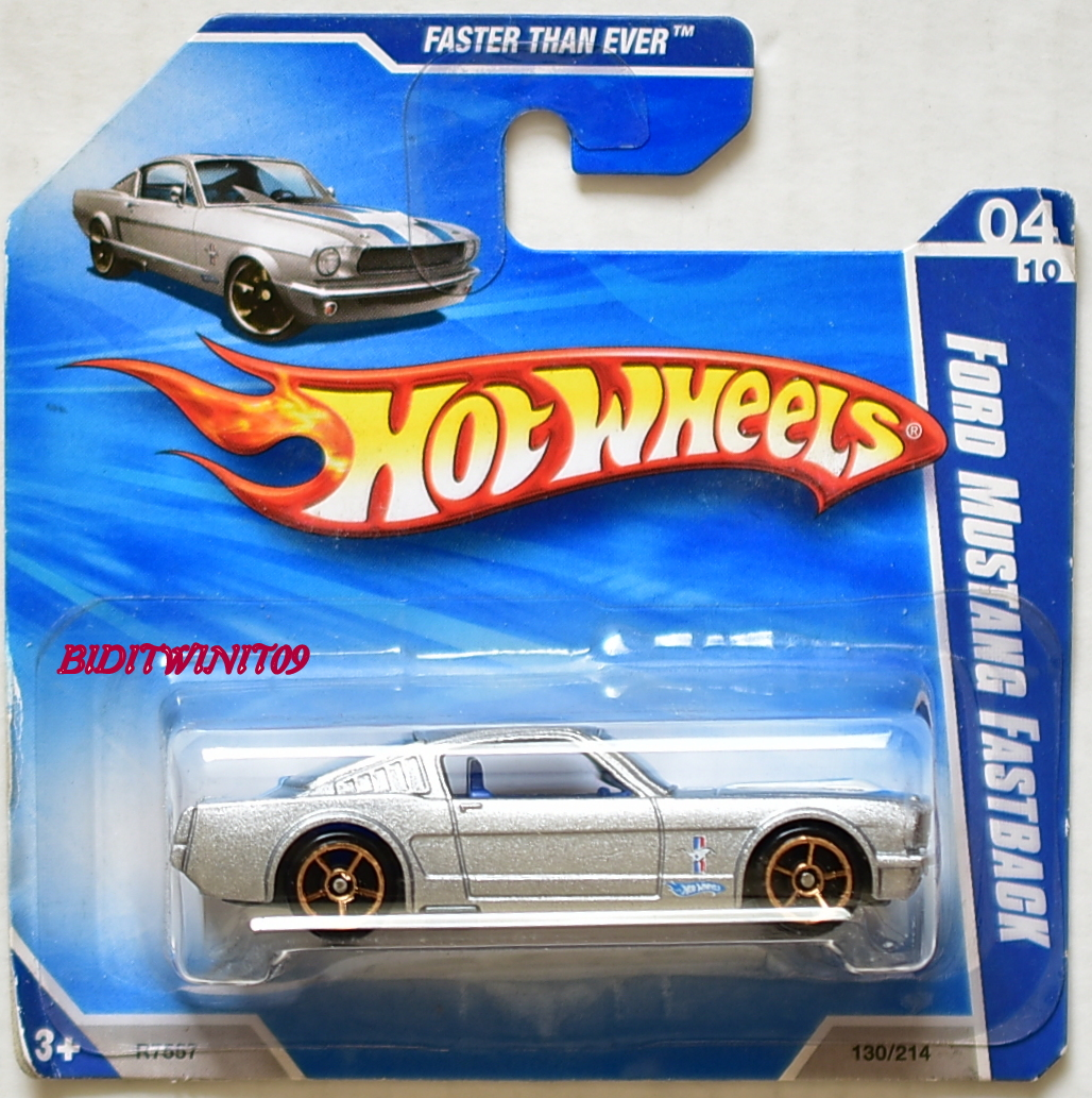 HOT WHEELS 2010 FTE FORD MUSTANG FASTBACK #04/10 SILVER SHORT CARD