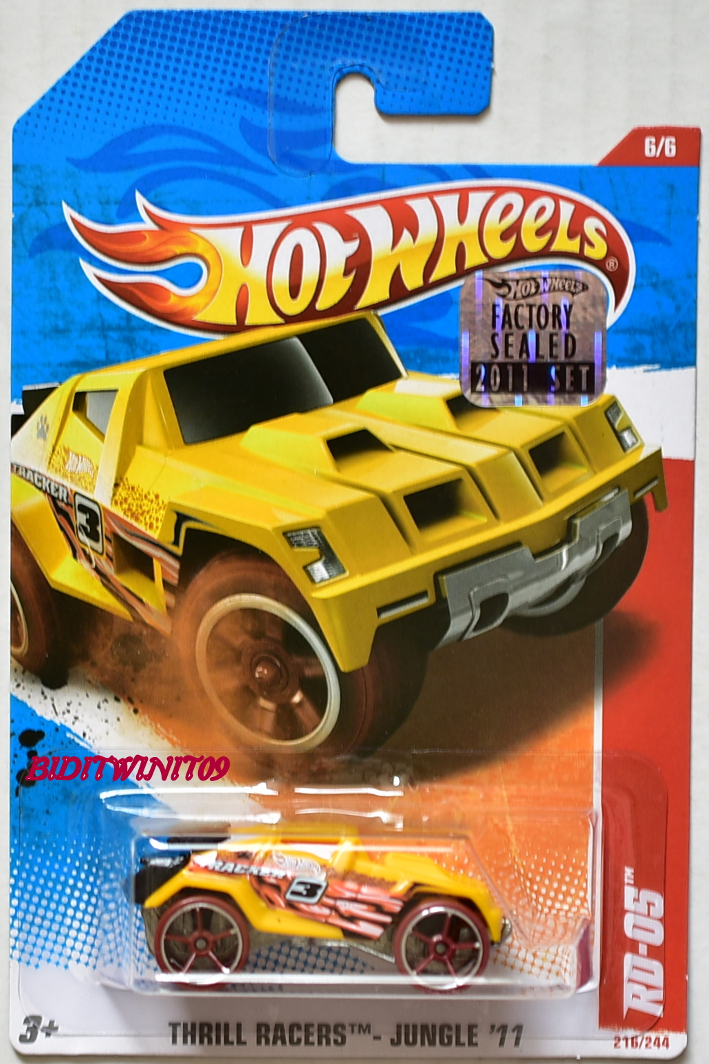 HOT WHEELS 2011 THRILL RACERS - JUNGLE RD-05 #6/6 FACTORY SEALED