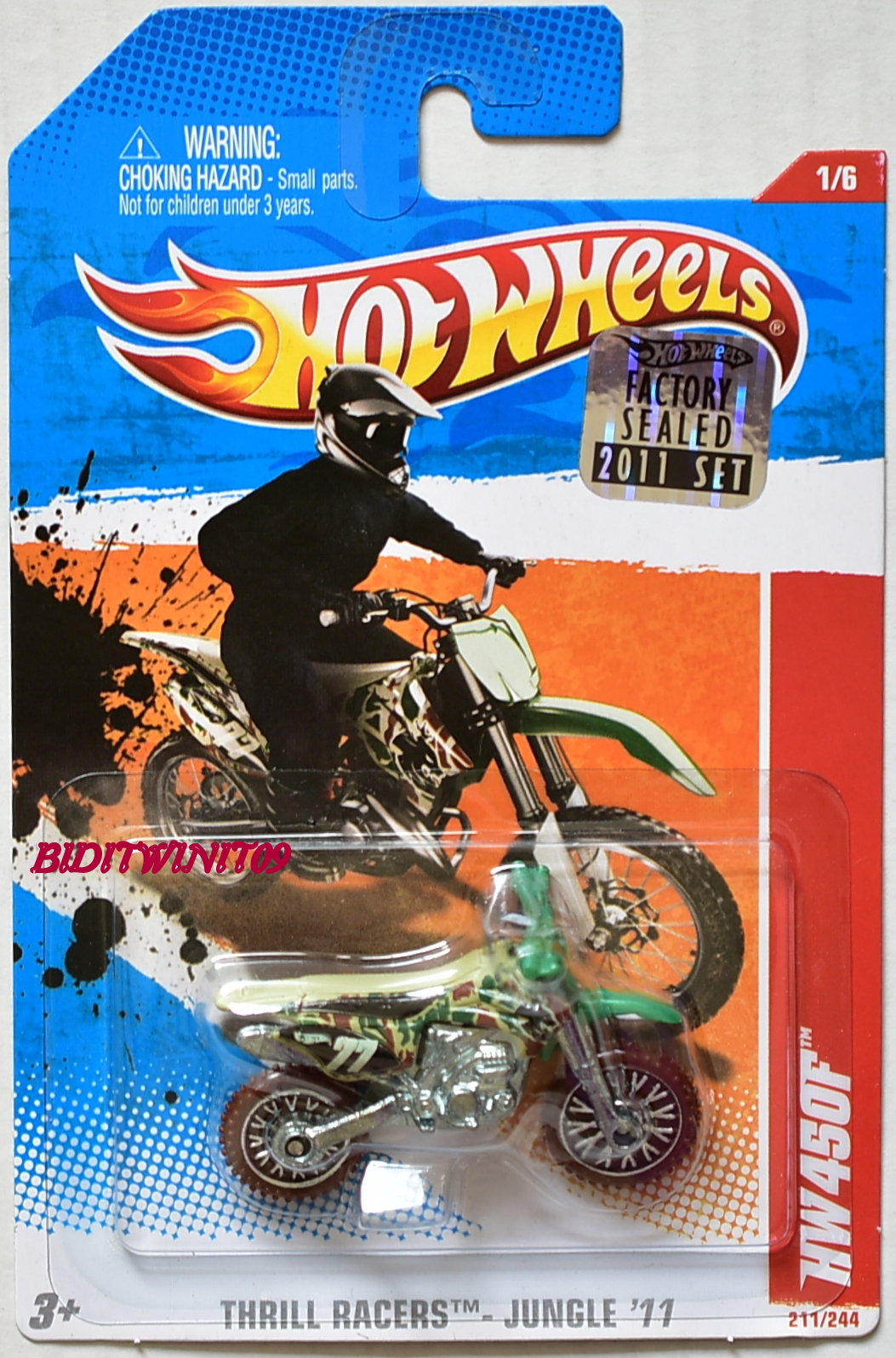 HOT WHEELS 2011 THRILL RACERS - JUNGLE HW450F #1/6 FACTORY SEALED