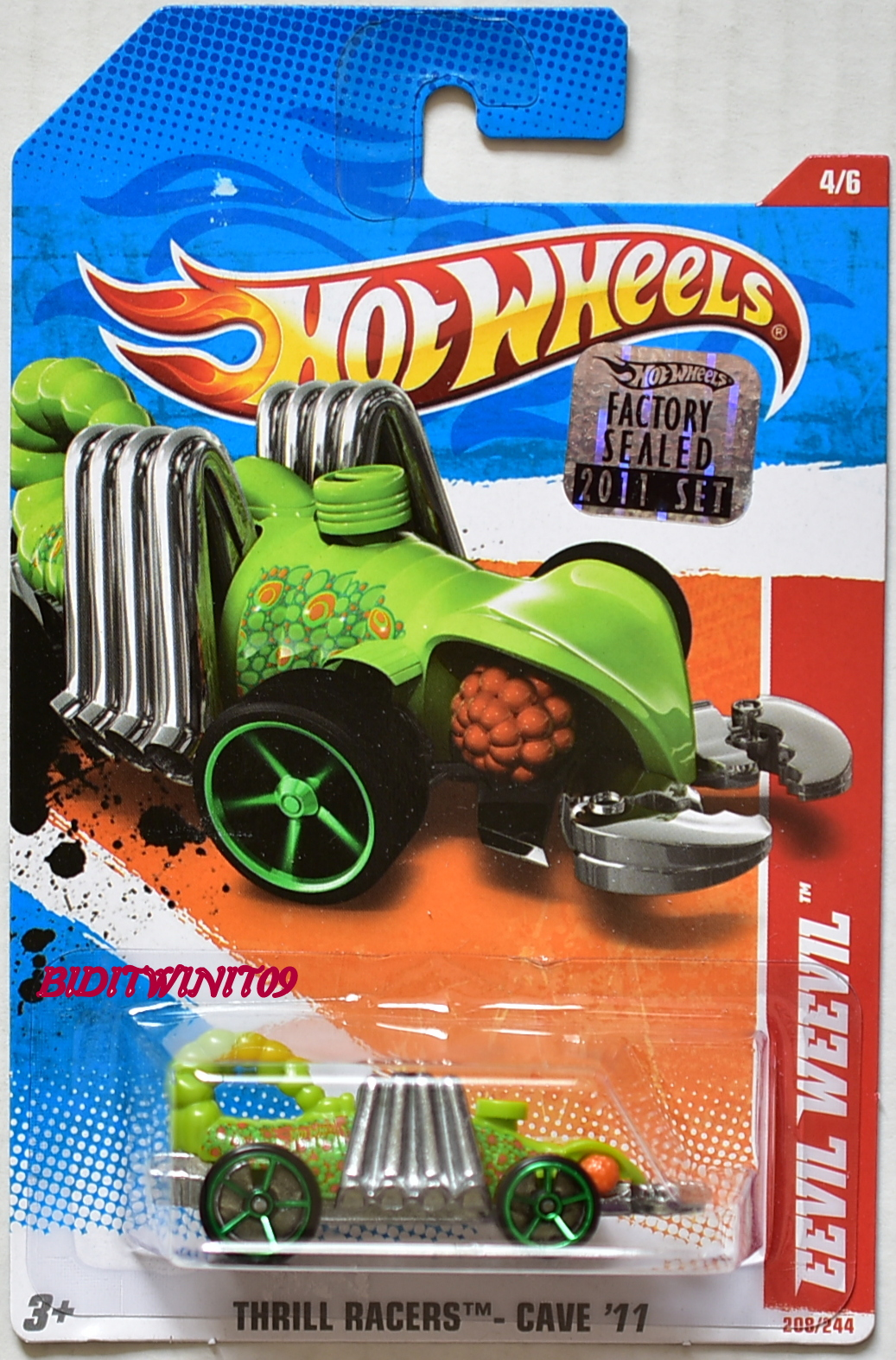 HOT WHEELS 2011 THRILL RACERS - CAVE EEVIL WEEVIL #4/6 FACTORY SEALED E+