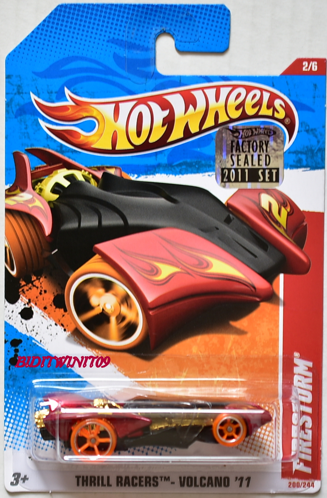 HOT WHEELS 2011 THRILL RACERS - VOLCANO FIRESTORM #2/6 FACTORY SEALED