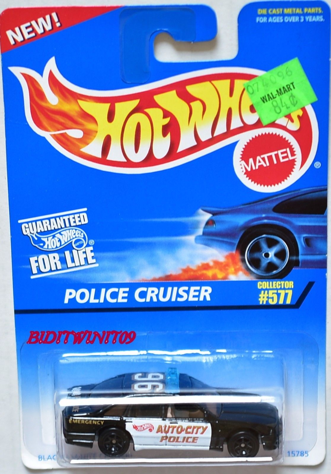 HOT WHEELS 1996 POLICE CRUISER #577