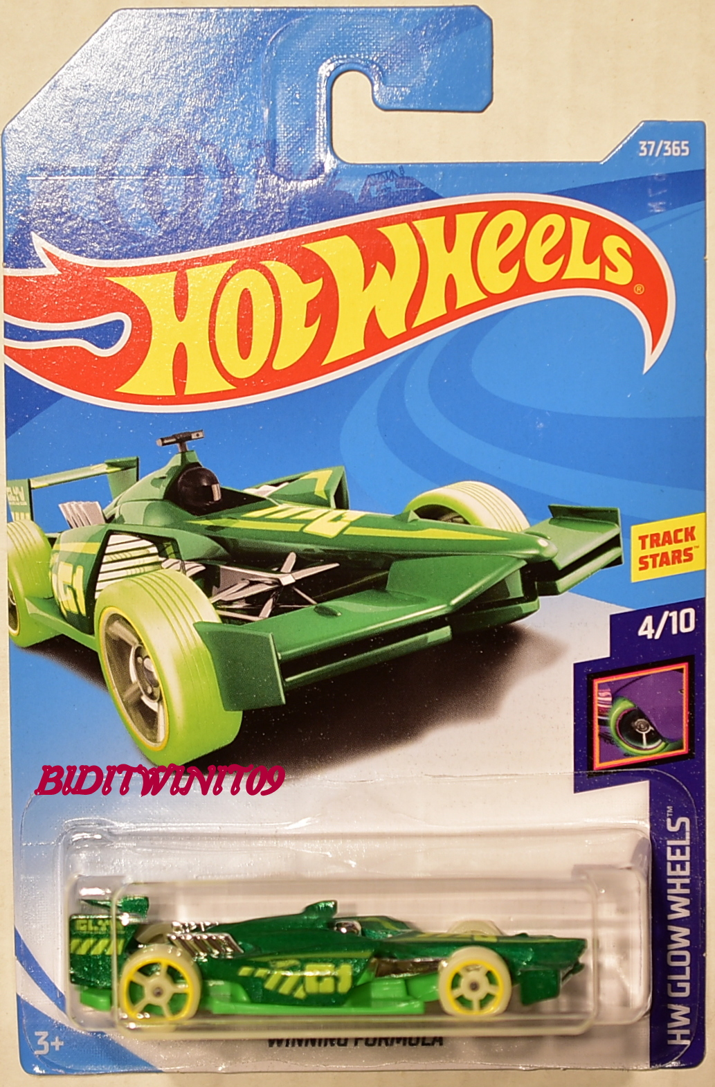 HOT WHEELS 2018 HW GLOW WHEELS WINNING FORMULA