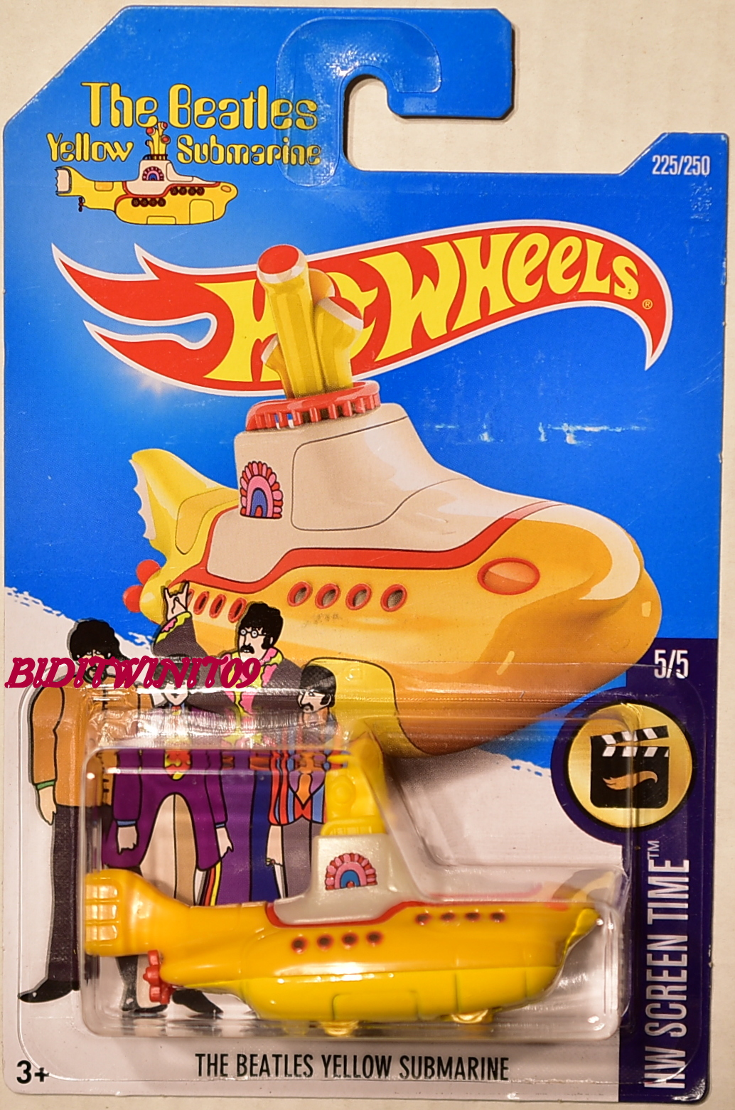 HOT WHEELS 2017 HW SCREEN TIME THE BEATLES YELLOW SUBMARINE #5/5