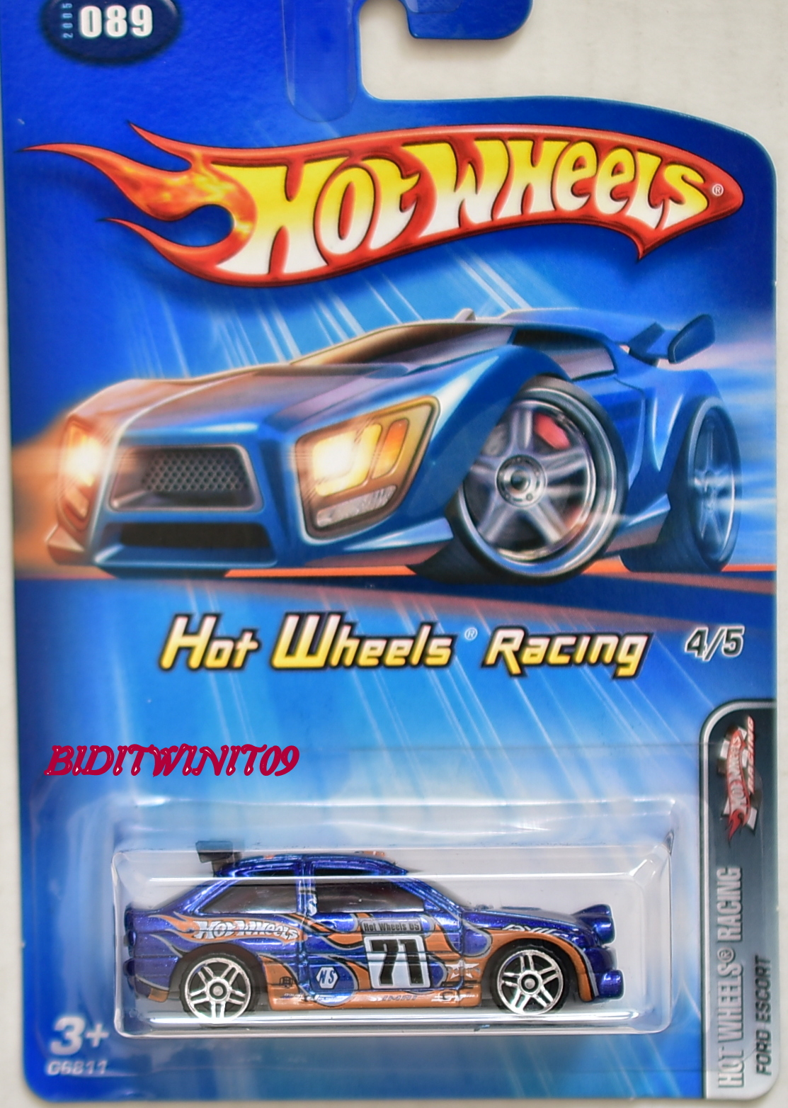 HOT WHEELS 2005 HW RACING FORD ESCORT #4/5