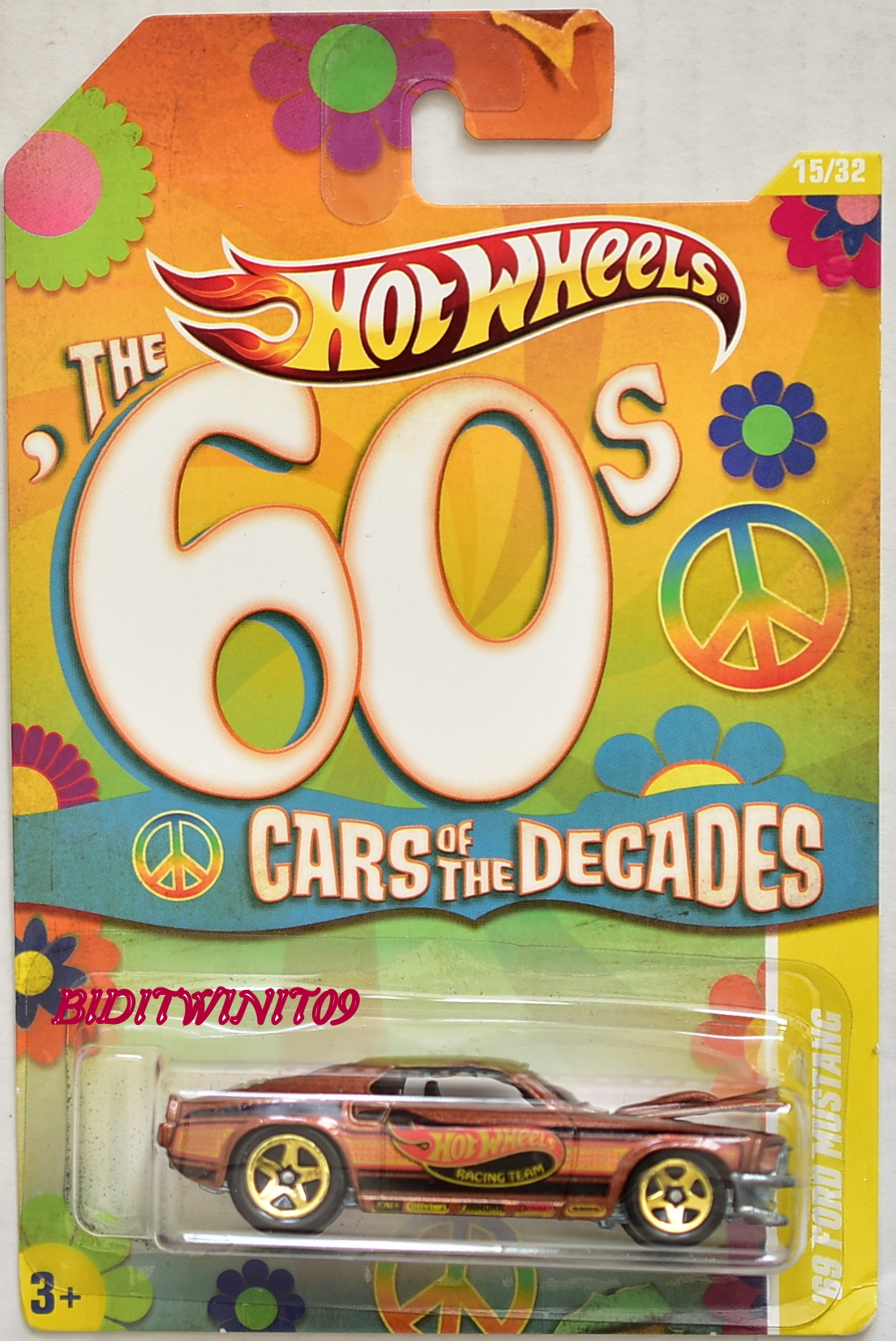 HOT WHEELS 2010 THE 60'S CARS OF THE DECADES '69 FORD MUSTANG