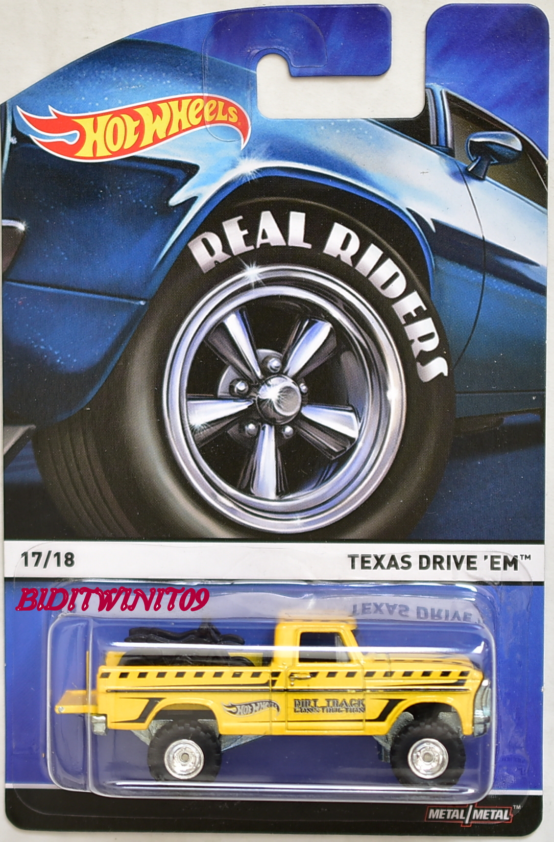 HOT WHEELS 2015 REAL RIDERS TEXAS DRIVE EM #17/18