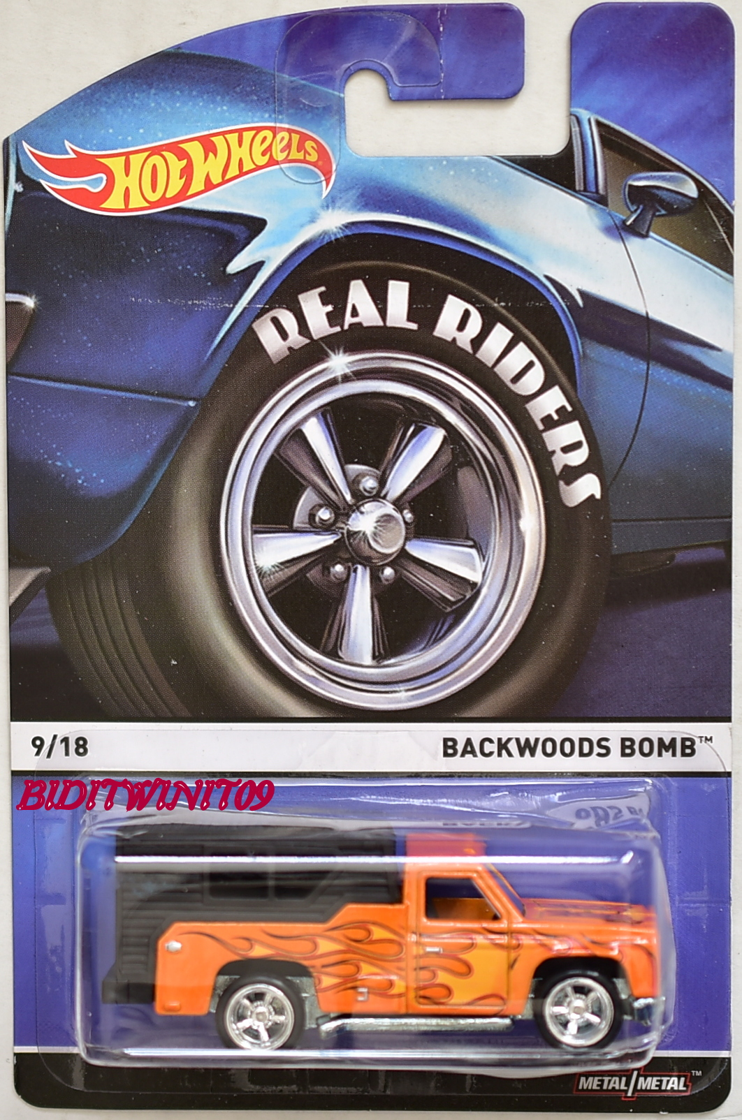 HOT WHEELS 2015 REAL RIDERS BACKWOODS BOMB #9/18