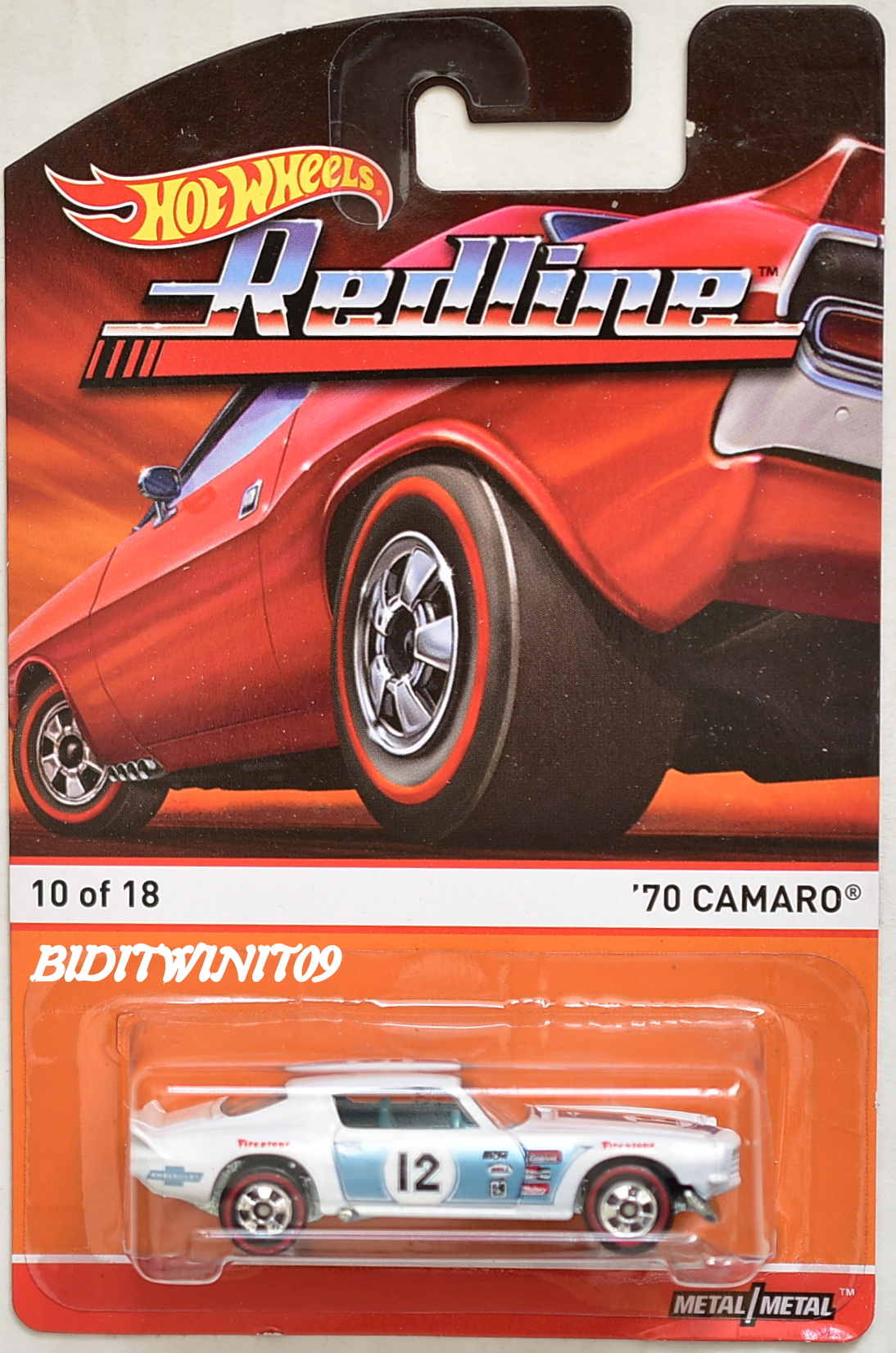 HOT WHEELS 2015 REDLINE '70 CAMARO #10/18