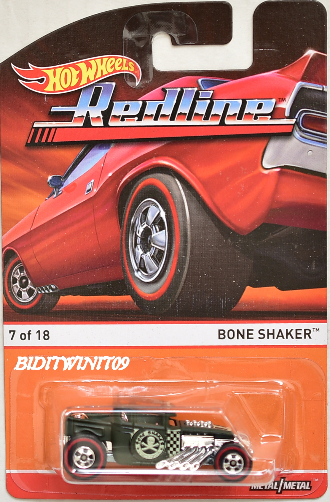 HOT WHEELS 2015 REDLINE BONE SHAKER #7/18 E+