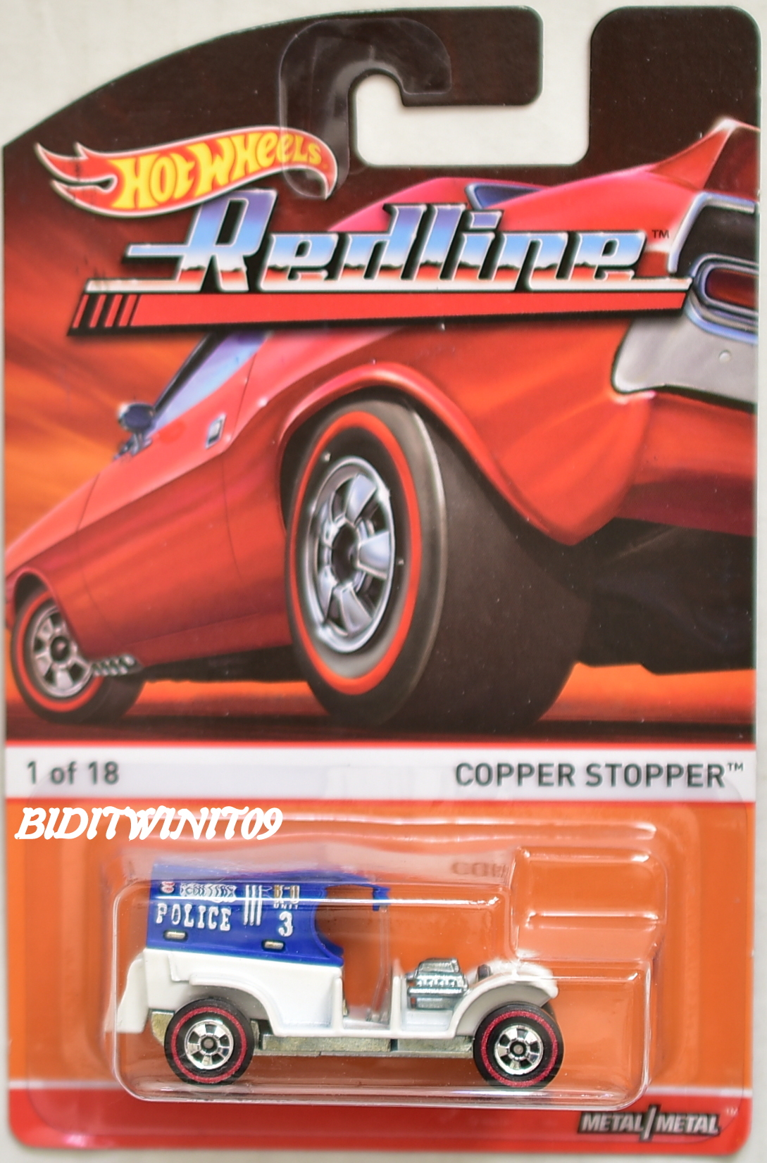 HOT WHEELS 2015 REDLINE COPPER STOPPER #1/18 E+