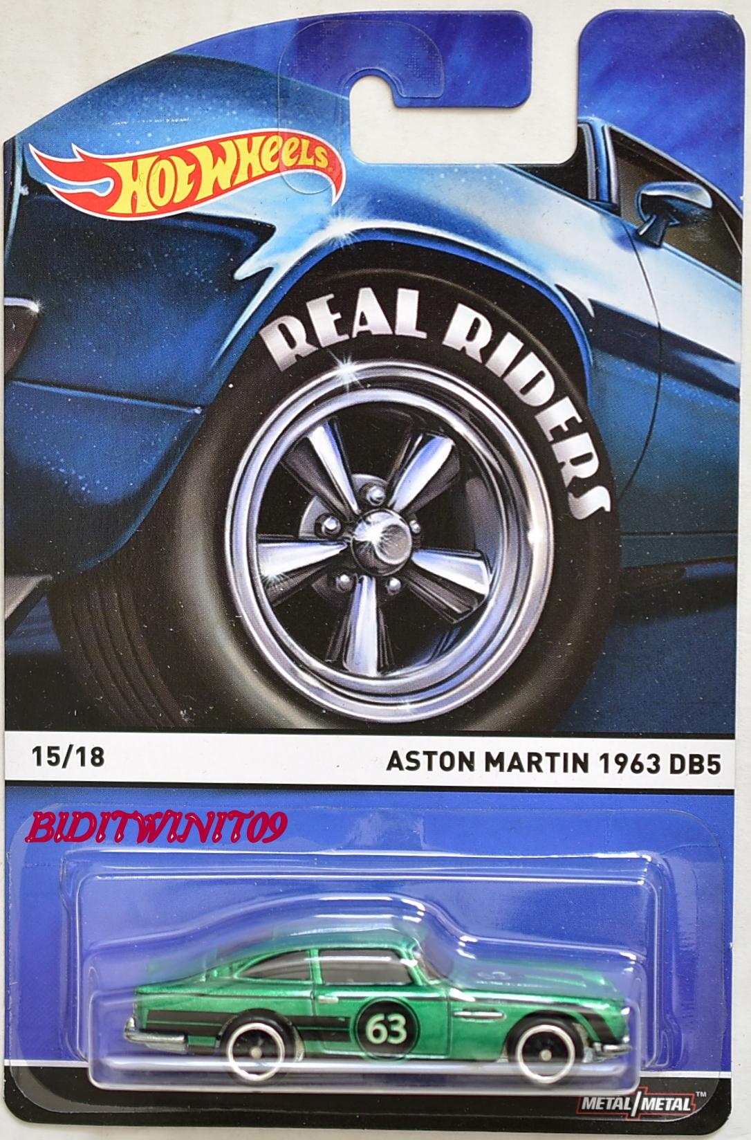 HOT WHEELS 2015 REAL RIDERS ASTON MARTIN 1963 DB5 #15/18