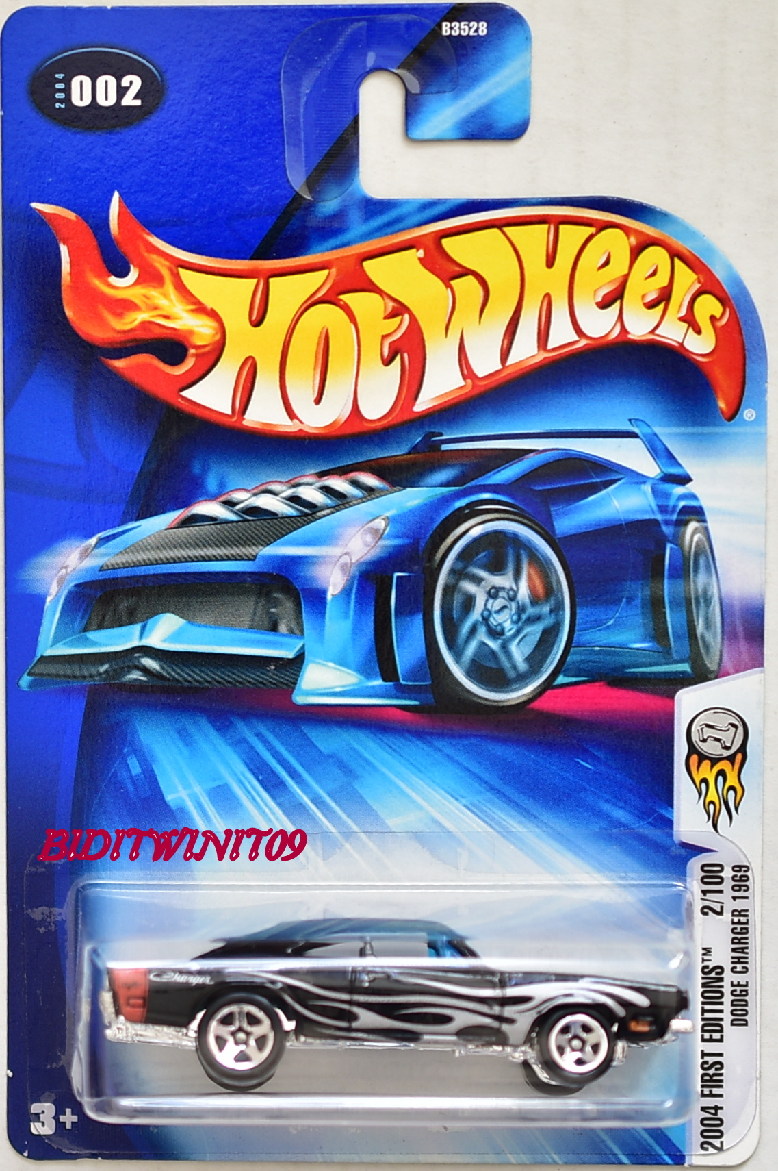 HOT WHEELS 2004 FIRST EDITIONS DODGE CHARGER 1969 #002