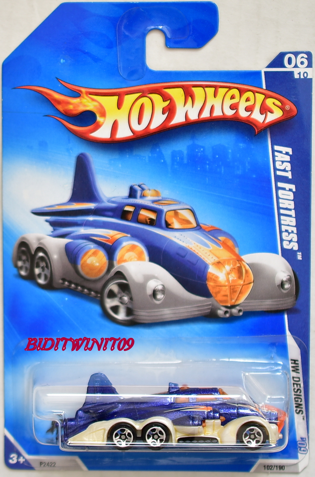 HOT WHEELS 2009 HW DESIGNS FAST FORTRESS #06/10 BLUE
