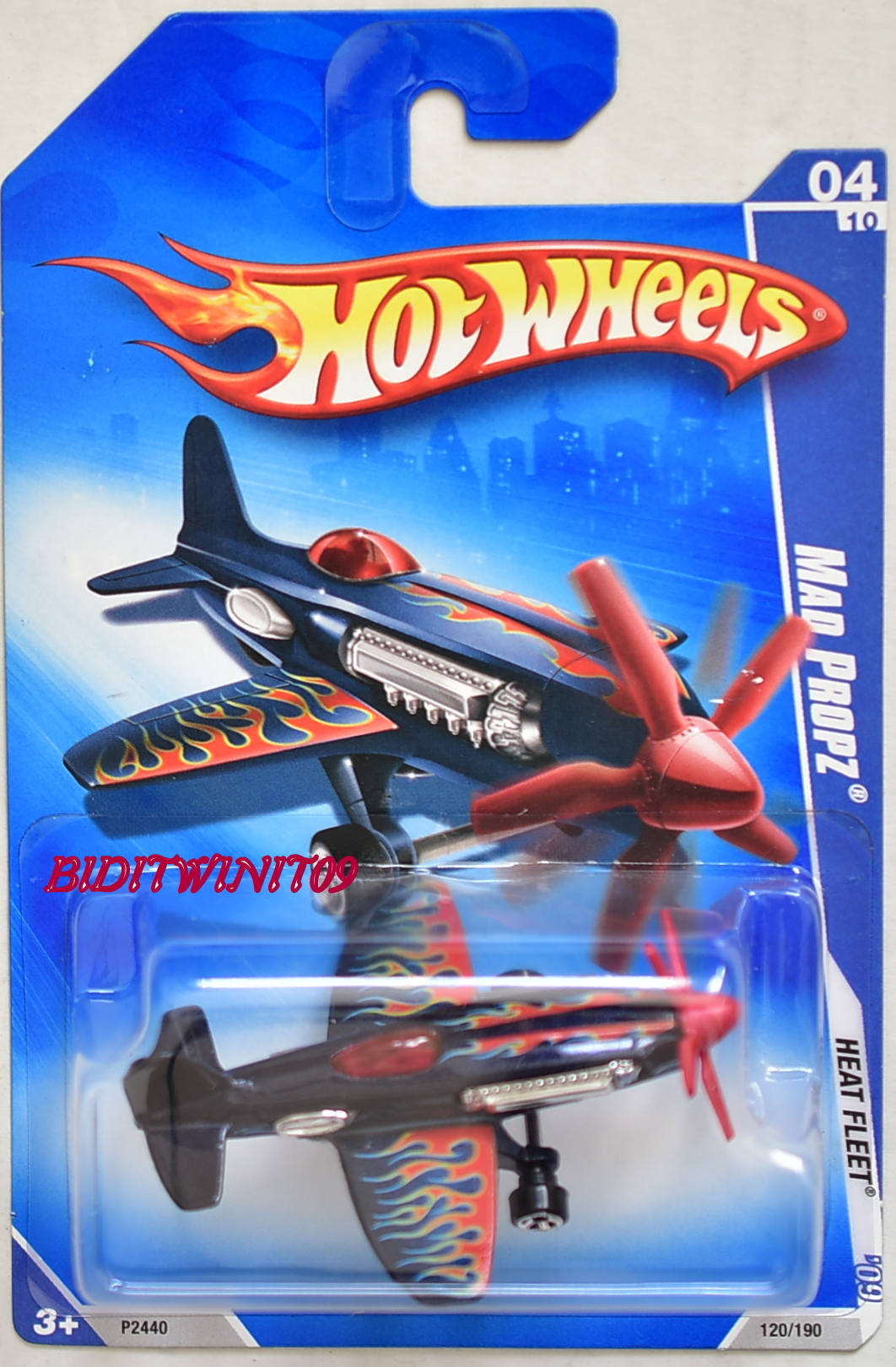 HOT WHEELS 2009 HEAT FLEET MAD PROPZ BLACK
