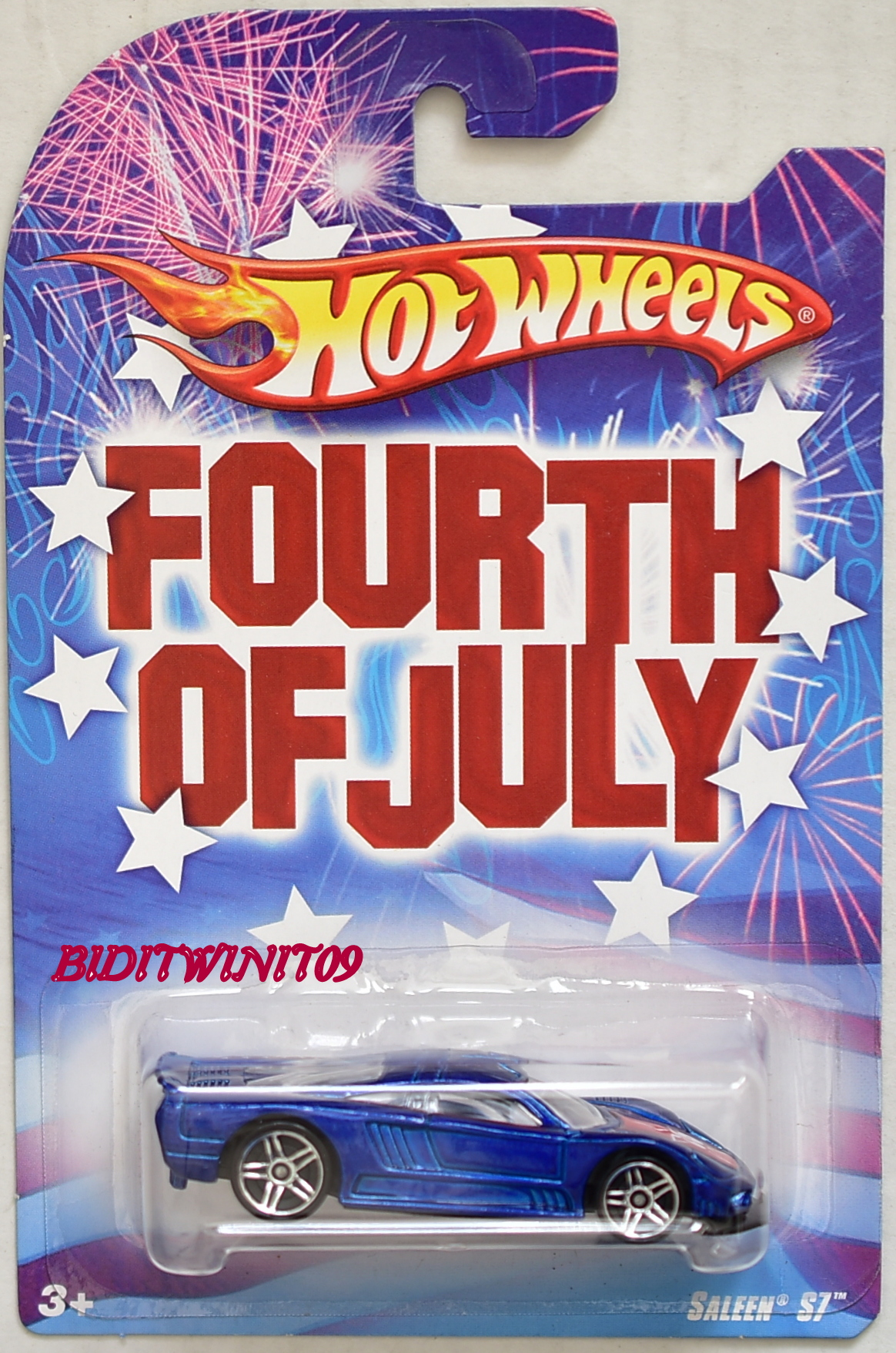 HOT WHEELS FOURTH OF JULY SALEEN S7 BLUE E+