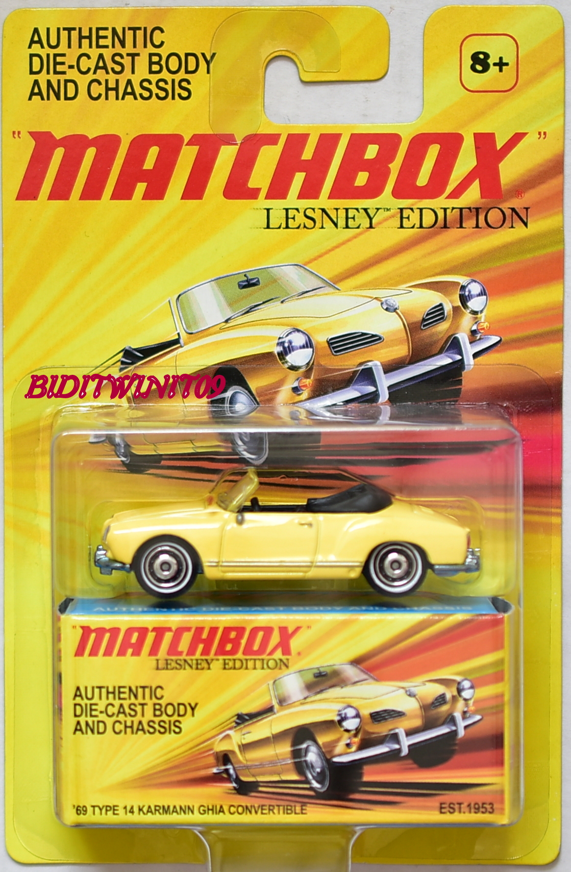 MATCHBOX LESNEY EDITION '69 TYPE 14 KARMANN GHIA CONVERTIBLE E+