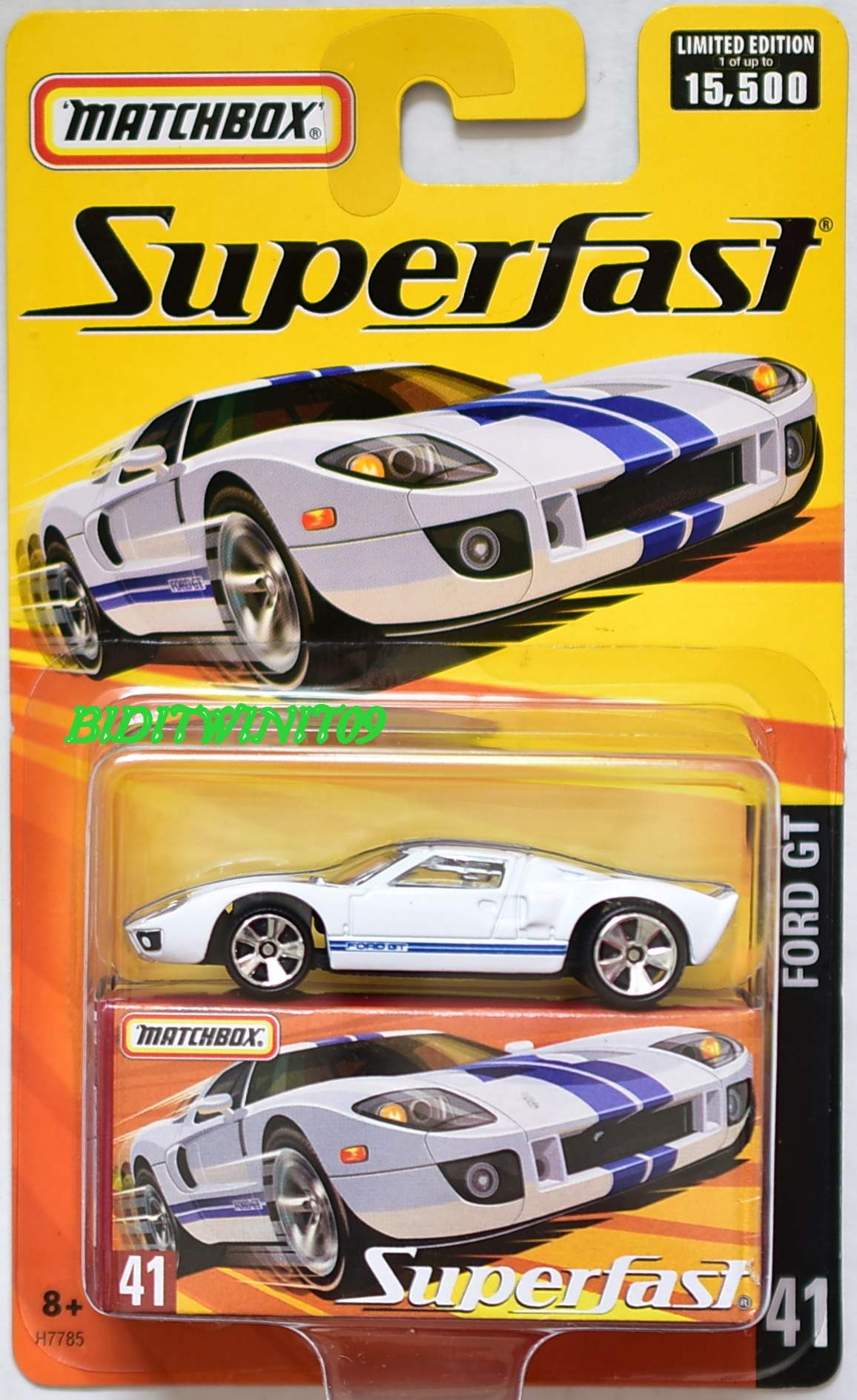 MATCHBOX SUPERFAST LIMITED EDITION FORD GT #41 E+