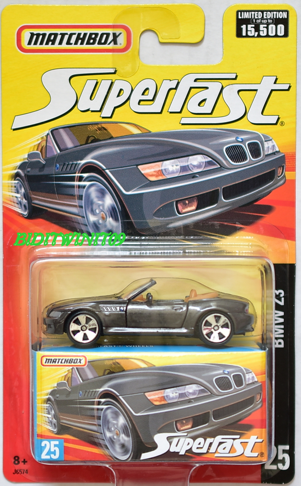 MATCHBOX SUPERFAST LIMITED EDITION BMW Z3 #25 E+