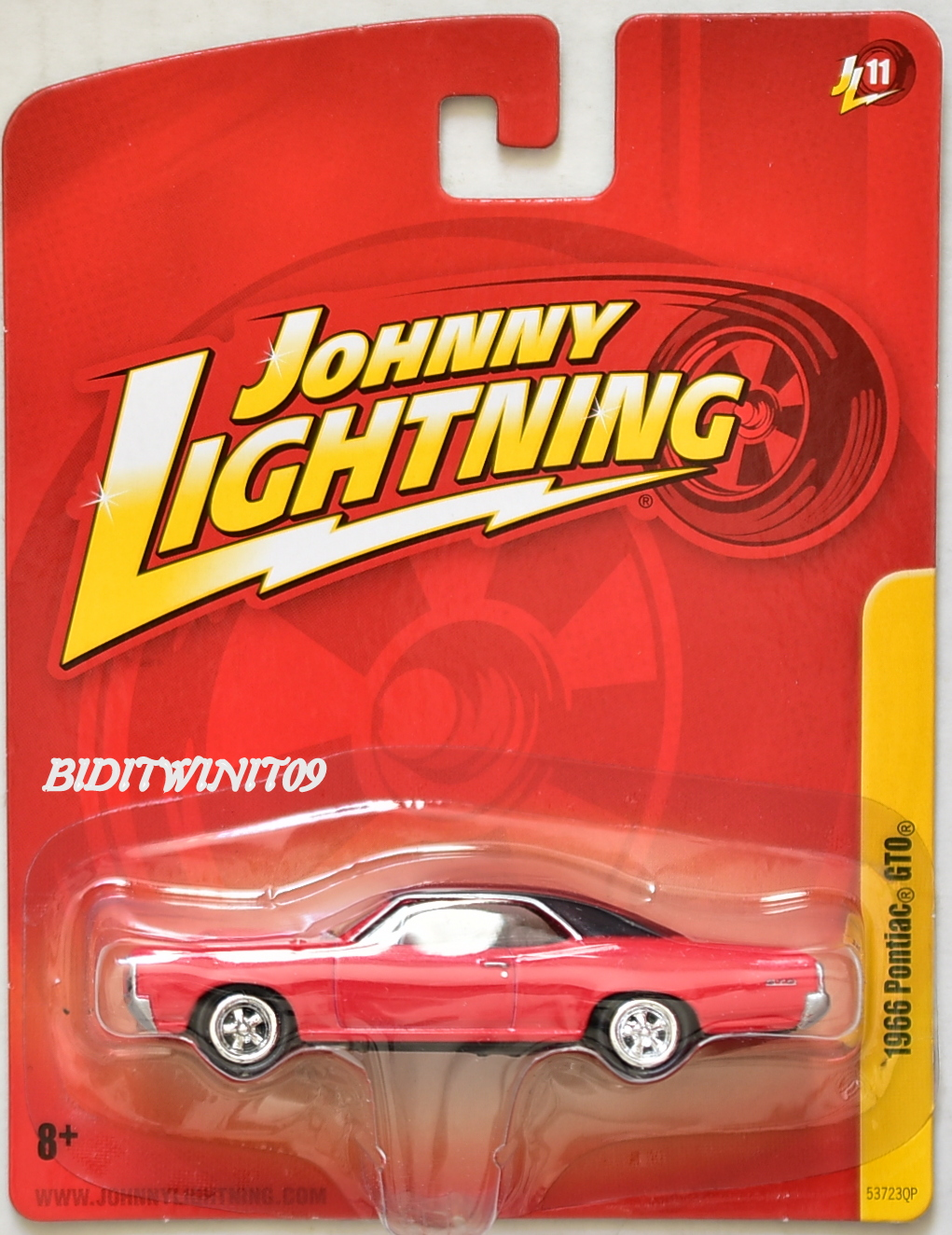 JOHNNY LIGHTNING 1966 PONTIAC GTO JL11 E+