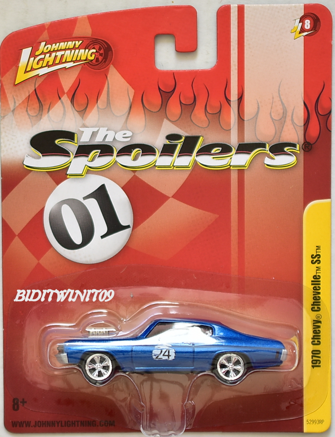 JOHNNY LIGHTNING 1970 CHEVY CHEVELLE SS JL8 BLUE THE SPOILERS 01
