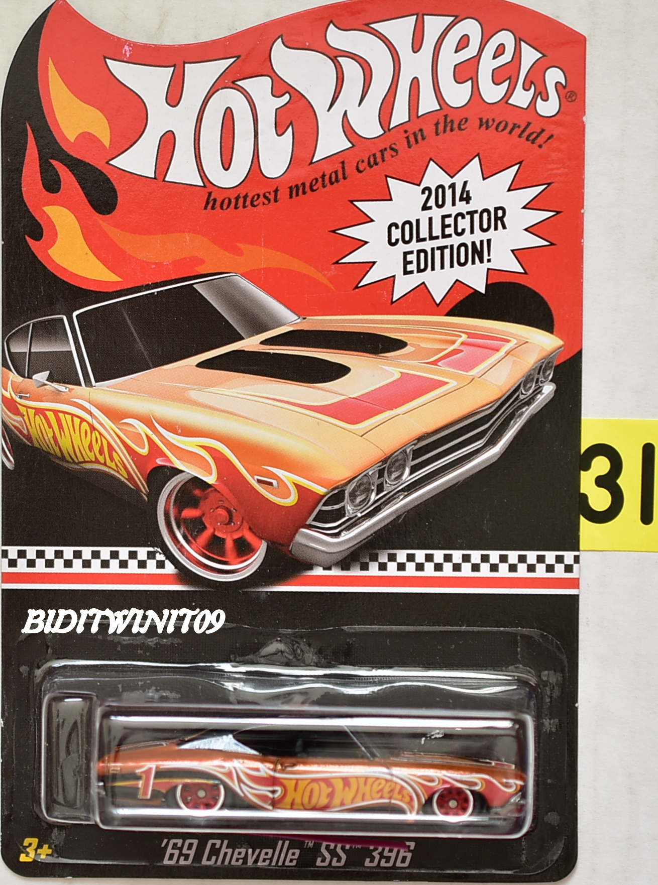 HOT WHEELS 2014 COLLECTOR EDITION '69 CHEVELLE SS 396