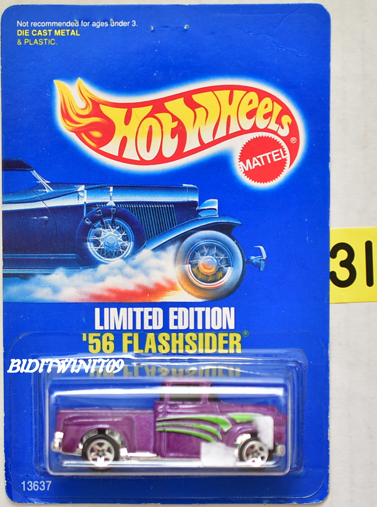 HOT WHEELS 1993 LIMITED EDITION '56 FLASHSIDER PURPLE