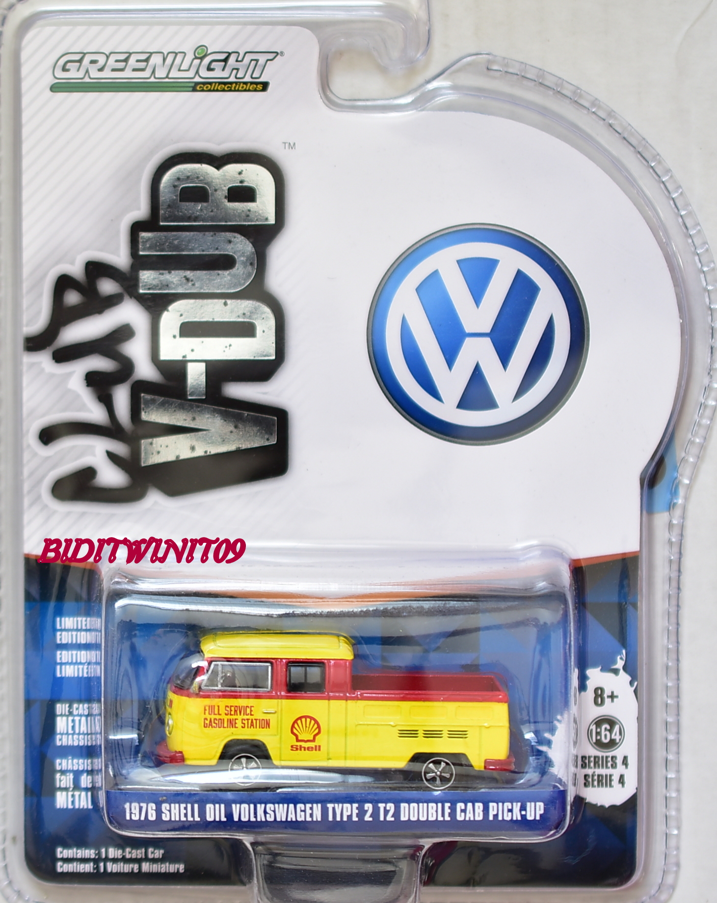 GREENLIGHT CLUB V-DUB 1976 SELL OIL VOLKSWAGEN TYPE 2 T2 DOUBLE CAB PICK-UP