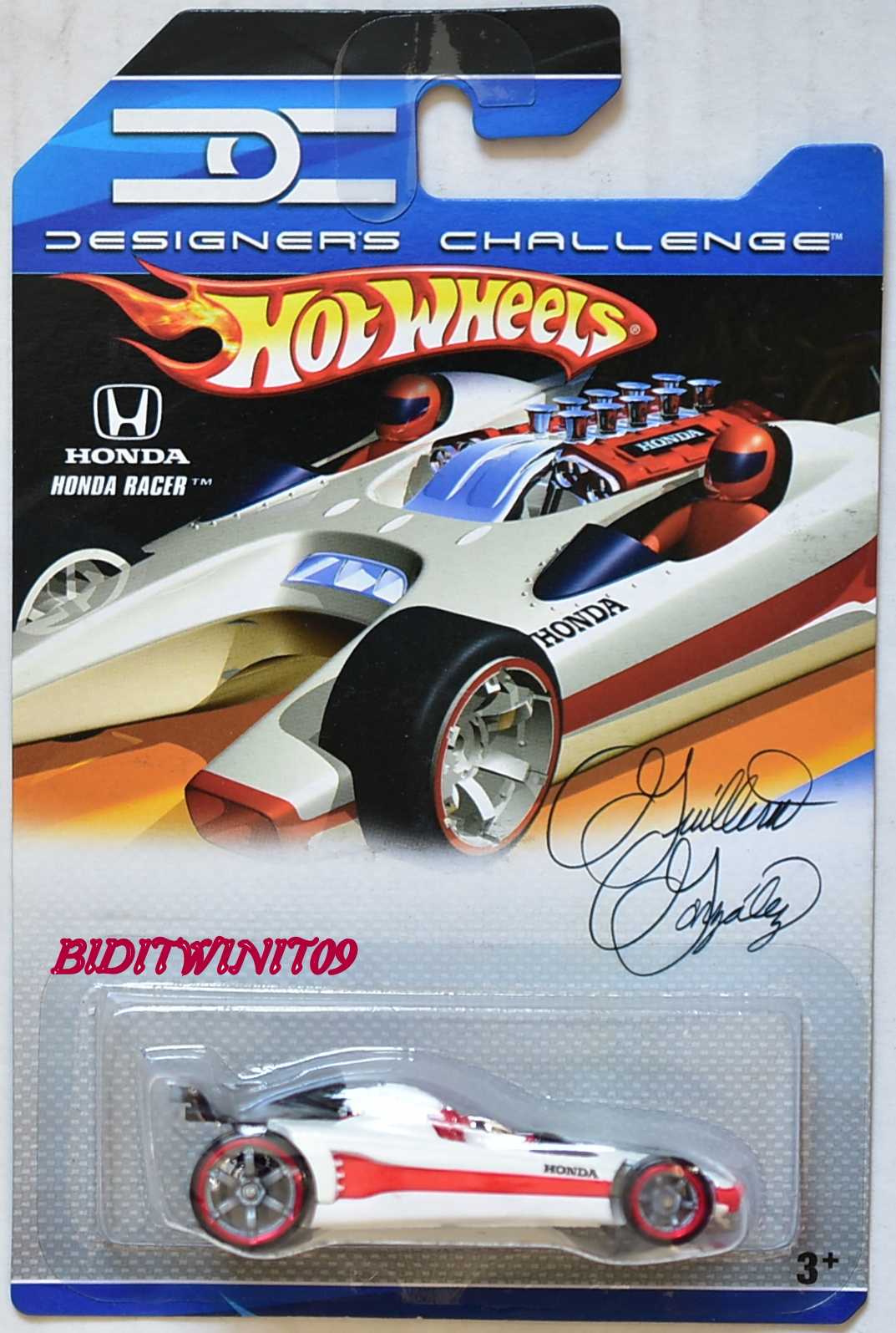 HOT WHEELS 2007 DESIGNERS CHALLENGE HONDA RACER WHITE
