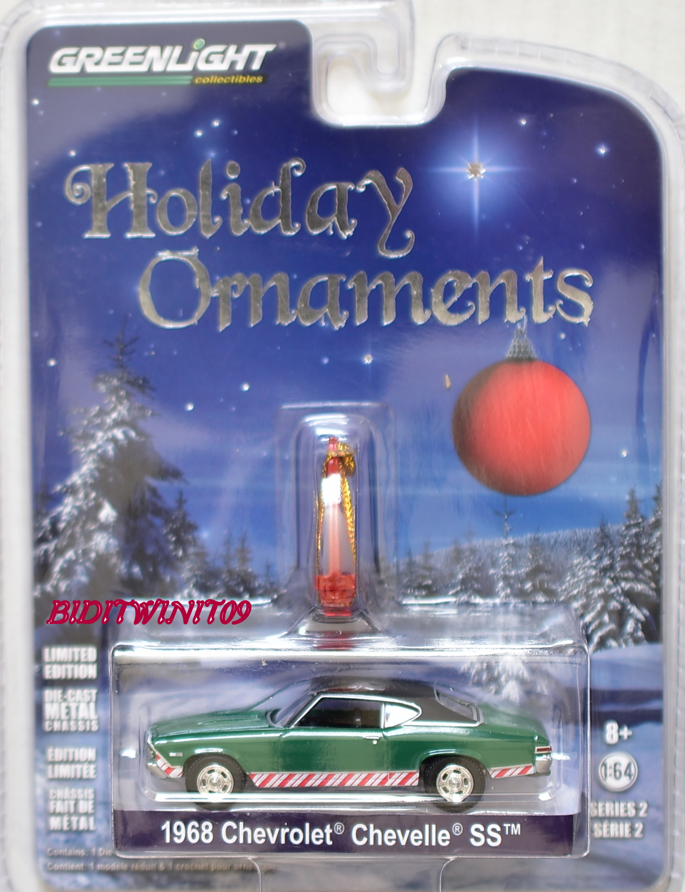 GREENLIGHT 2017 HOLIDAY ORNAMENTS 1968 CHEVROLET CHEVELLE SS SERIES 2