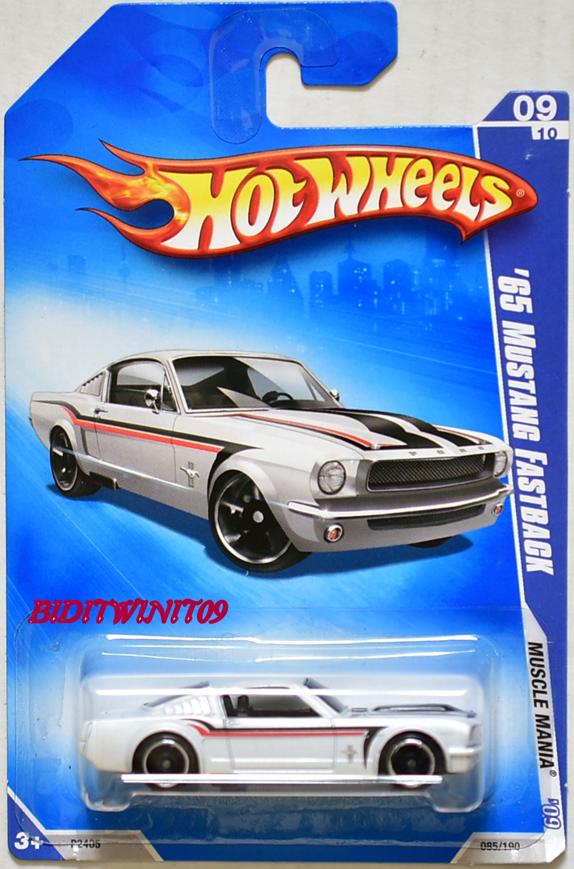 HOT WHEELS 2009 MUSCLE MANIA '65 MUSTANG FASTBACK #09/10