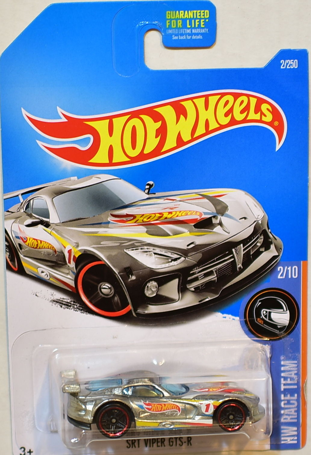 HOT WHEELS 2016 HW RACE TEAM SRT VIPER GTS-R #2/10 ZAMAC