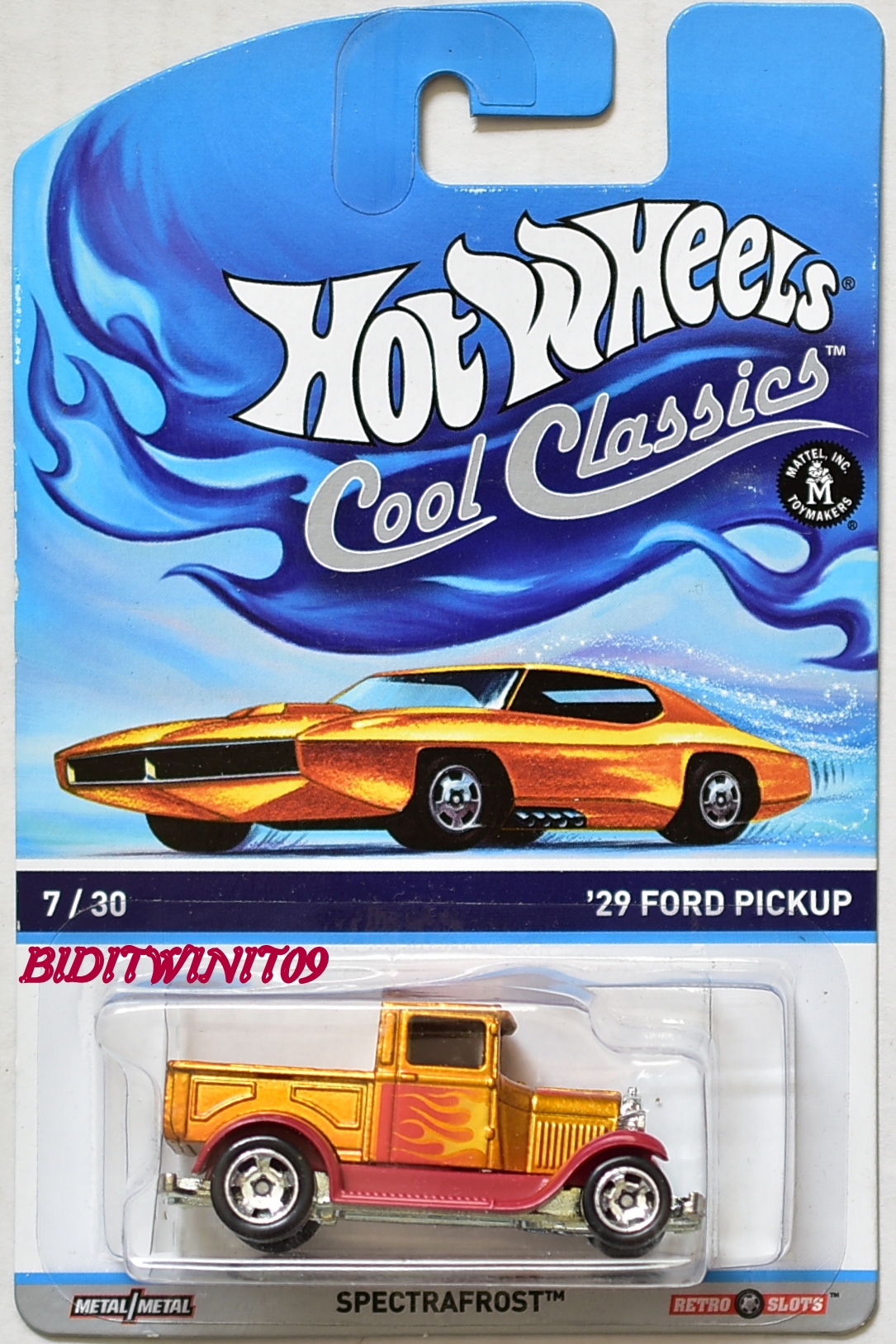 HOT WHEELS COOL CLASSICS - SPECTRAFROST #7/30 '29 FORD PICKUP E+