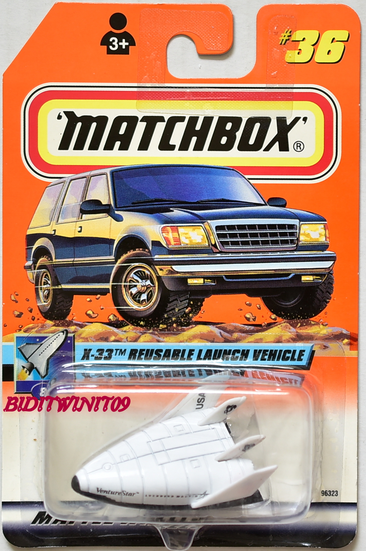MATCHBOX 2000 #36/100 X-33 REUSABLE LAUNCH VEHICLE FIRST EDITION