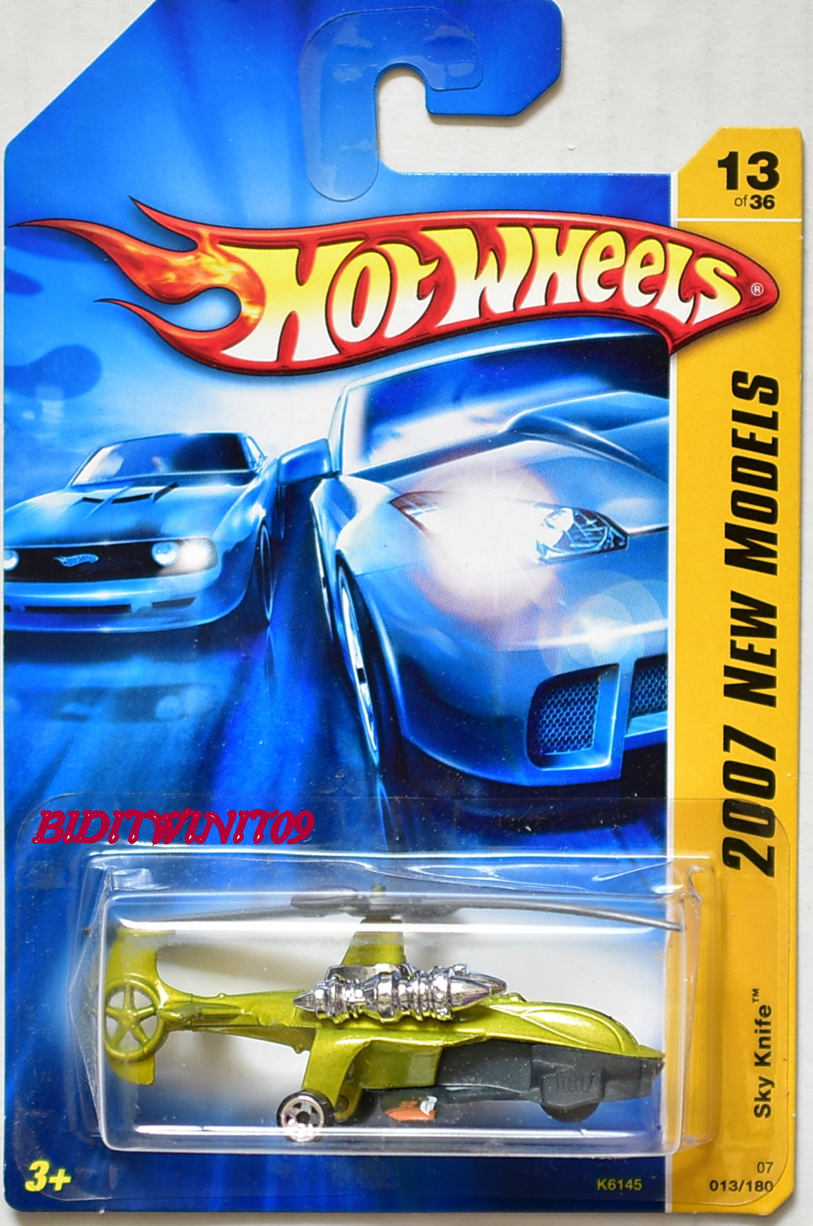 HOT WHEELS 2007 NEW MODELS SKY KNIFE #13/36 GREEN