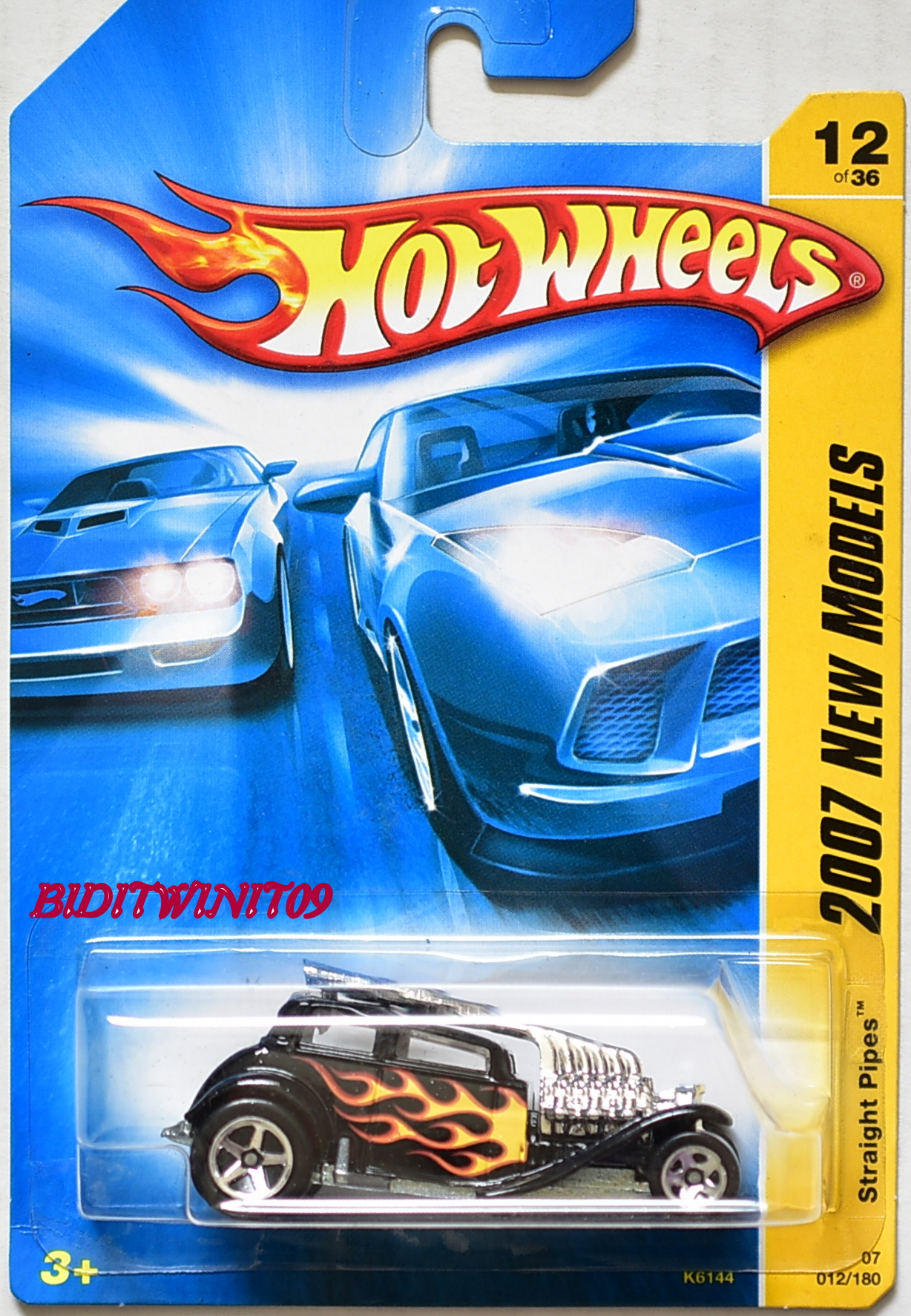 HOT WHEELS 2007 NEW MODELS STRAIGHT PIPES #12/36 BLACK
